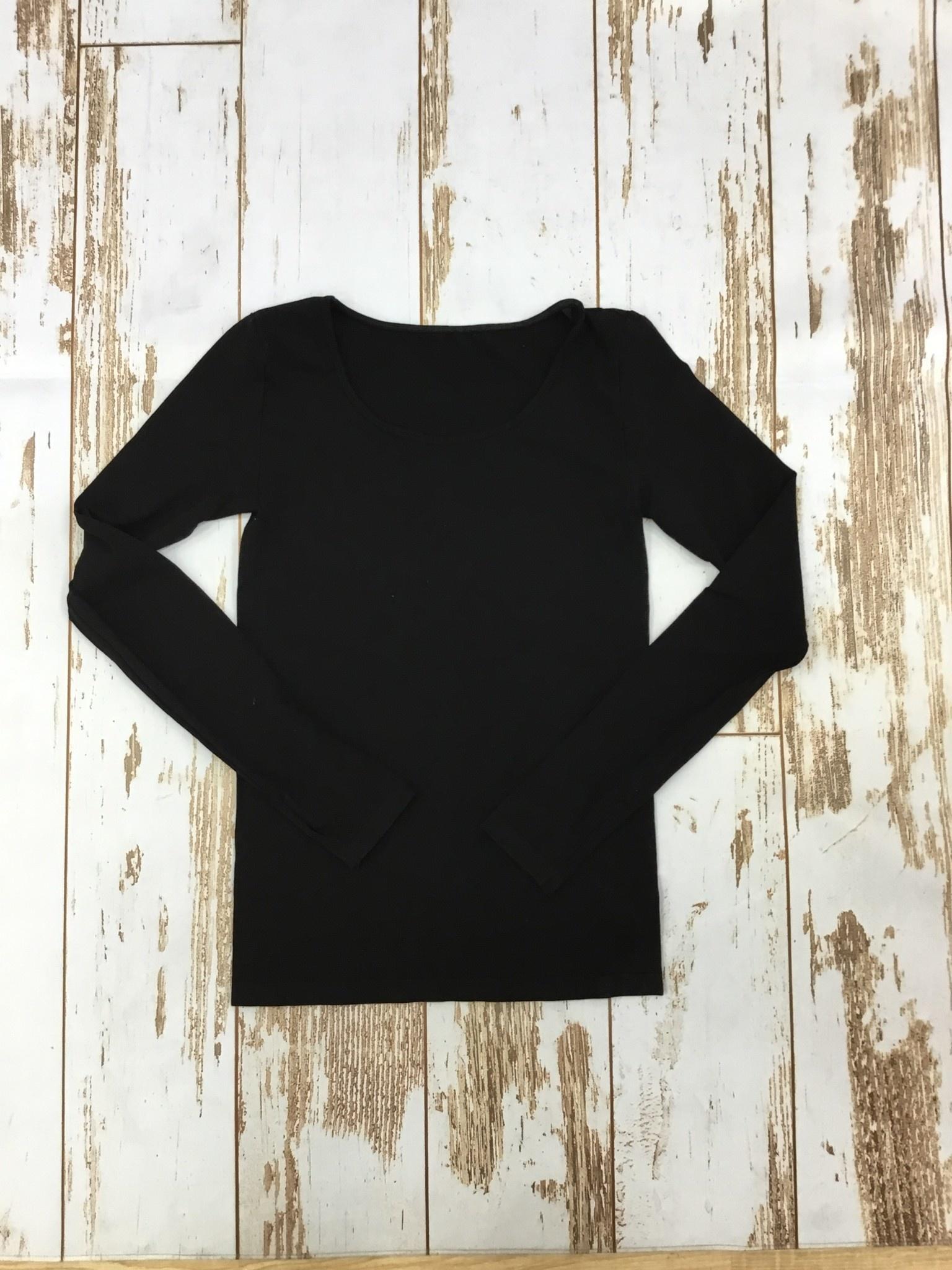 M.Rena Long Sleeve Top w/ Thumbhole in Black