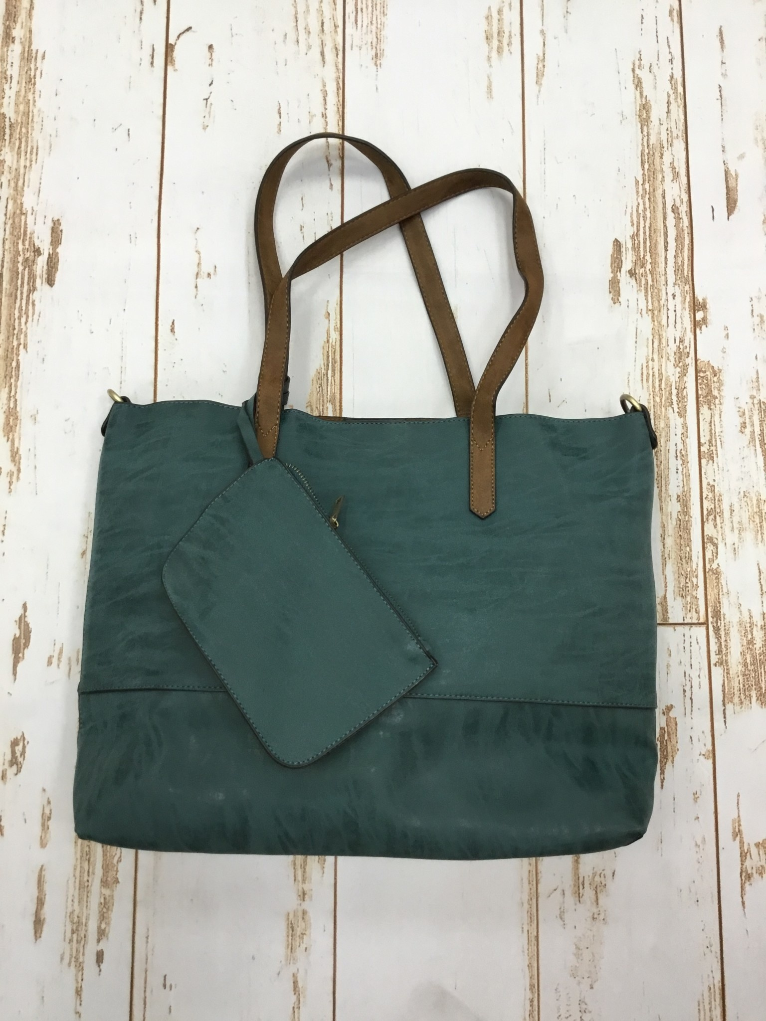 Joy Accessories 2 in 1 Tote Brushed in Teal