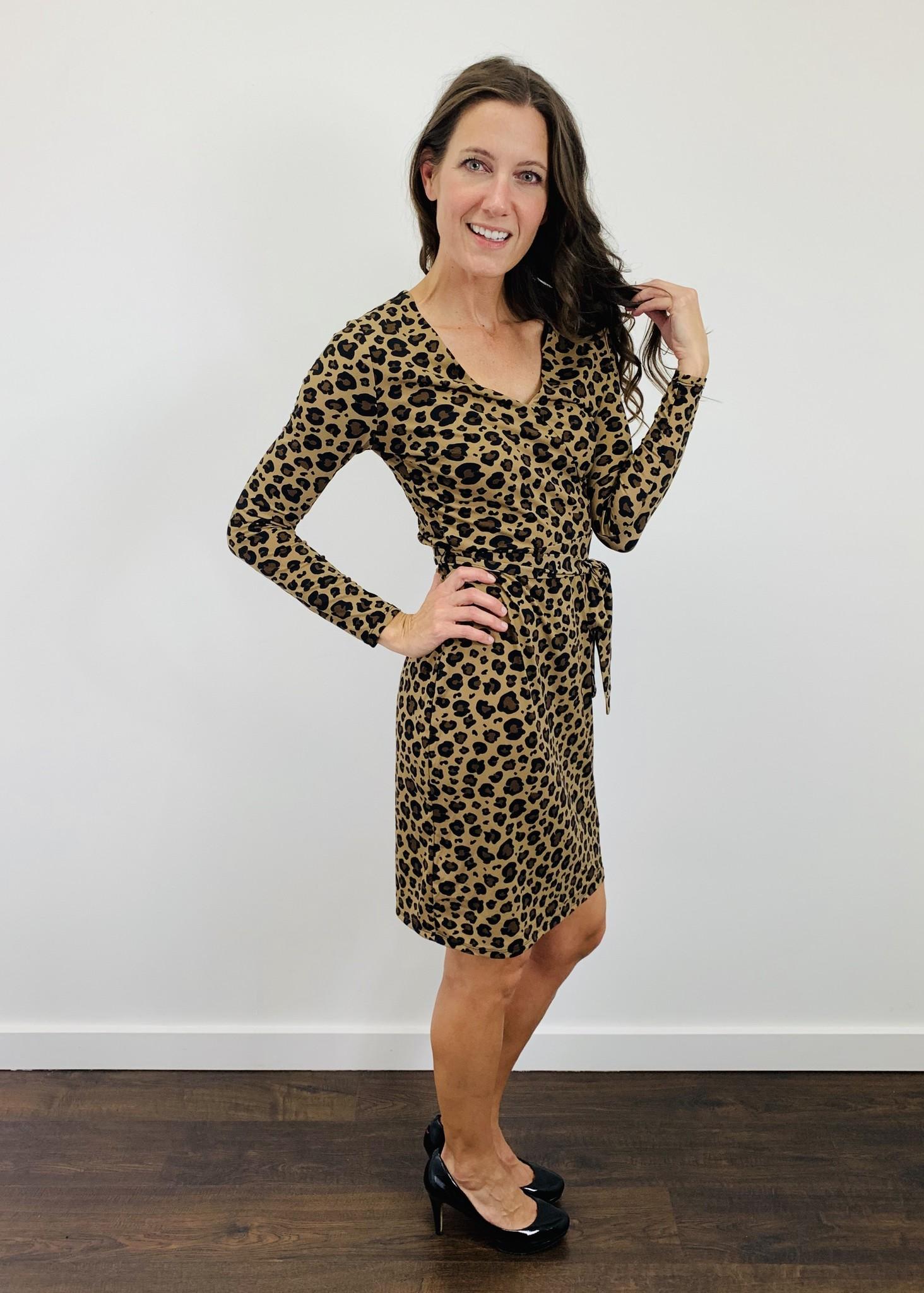 Dex Admiral Leopard Dress