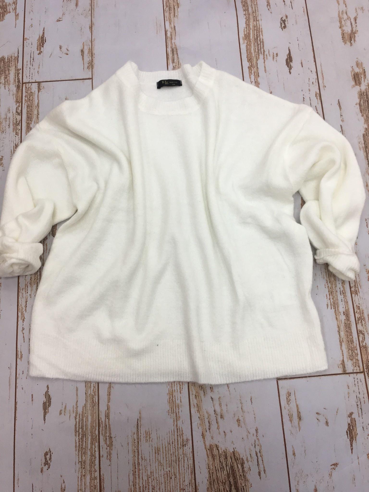 KLD Ivory Puff Sleeve Sweater