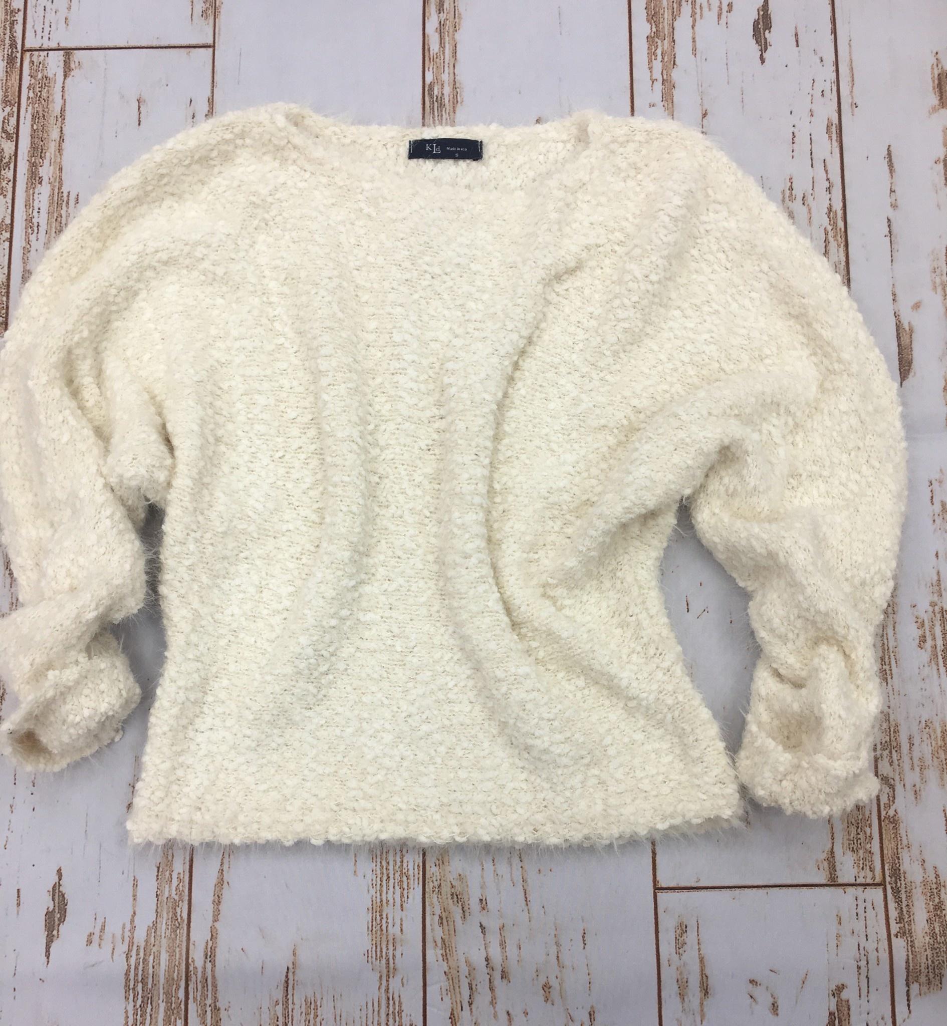 KLD Ivory Fuzzy Sweater