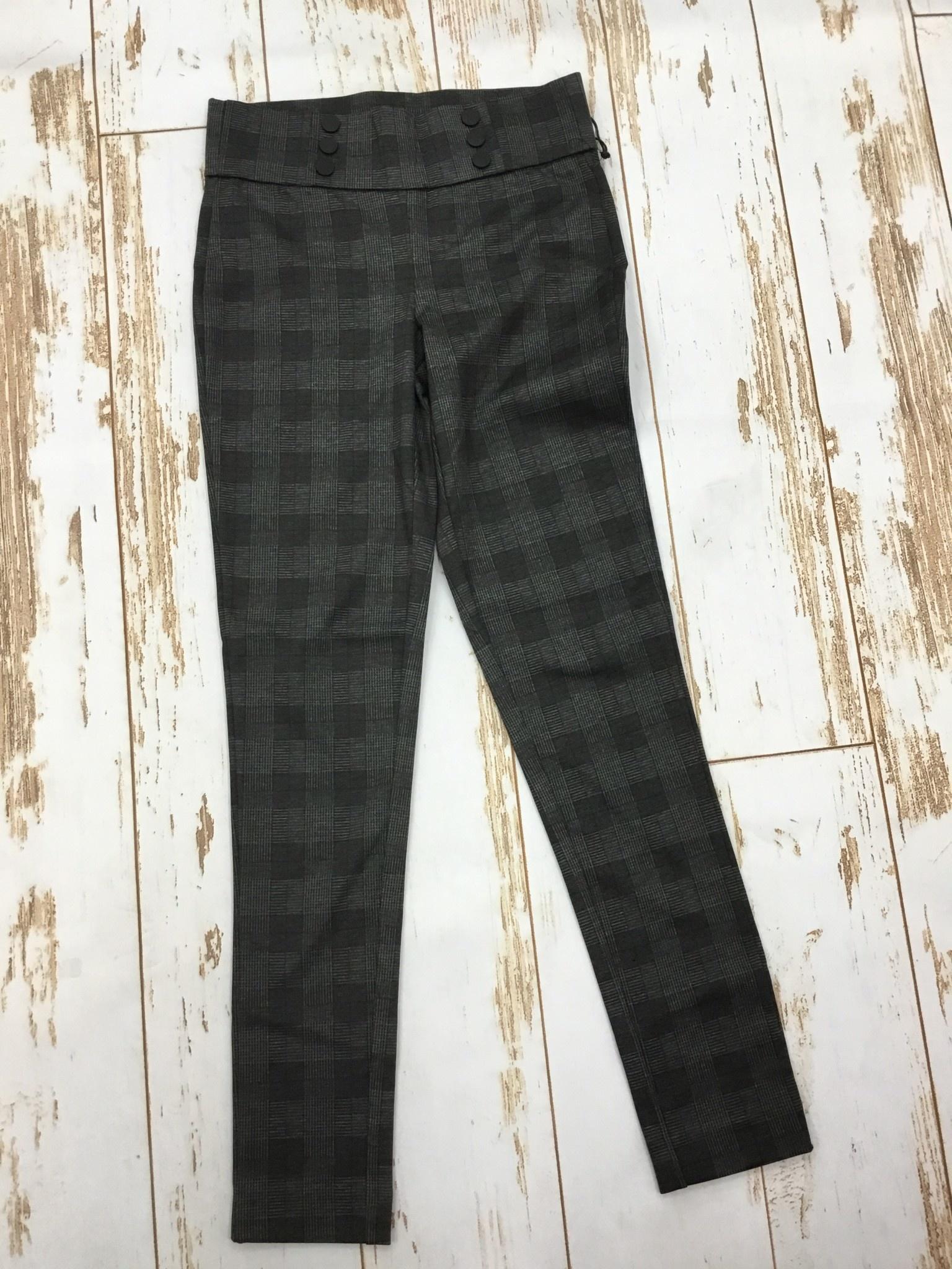 Dex Plaid Button Detail Legging