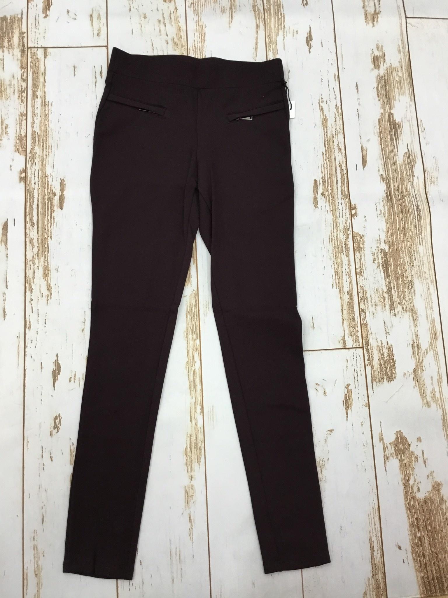 Dex High Waist Zip Detail Legging in Rich Burgundy