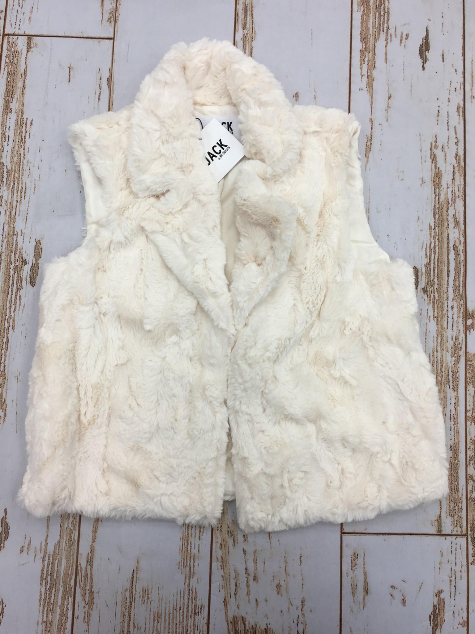 Jack by BB Dakota Ain't it Fuzzy Vest Ivory
