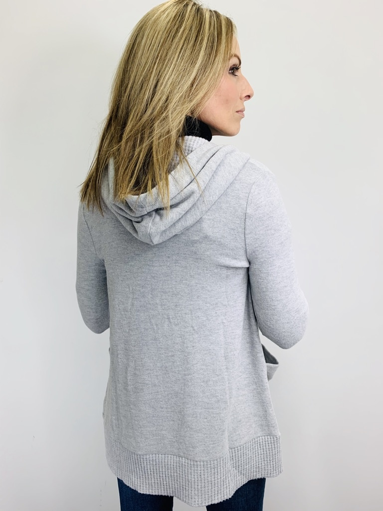 Z Supply Thermal Lined Soft Spun Cardi Heather Grey
