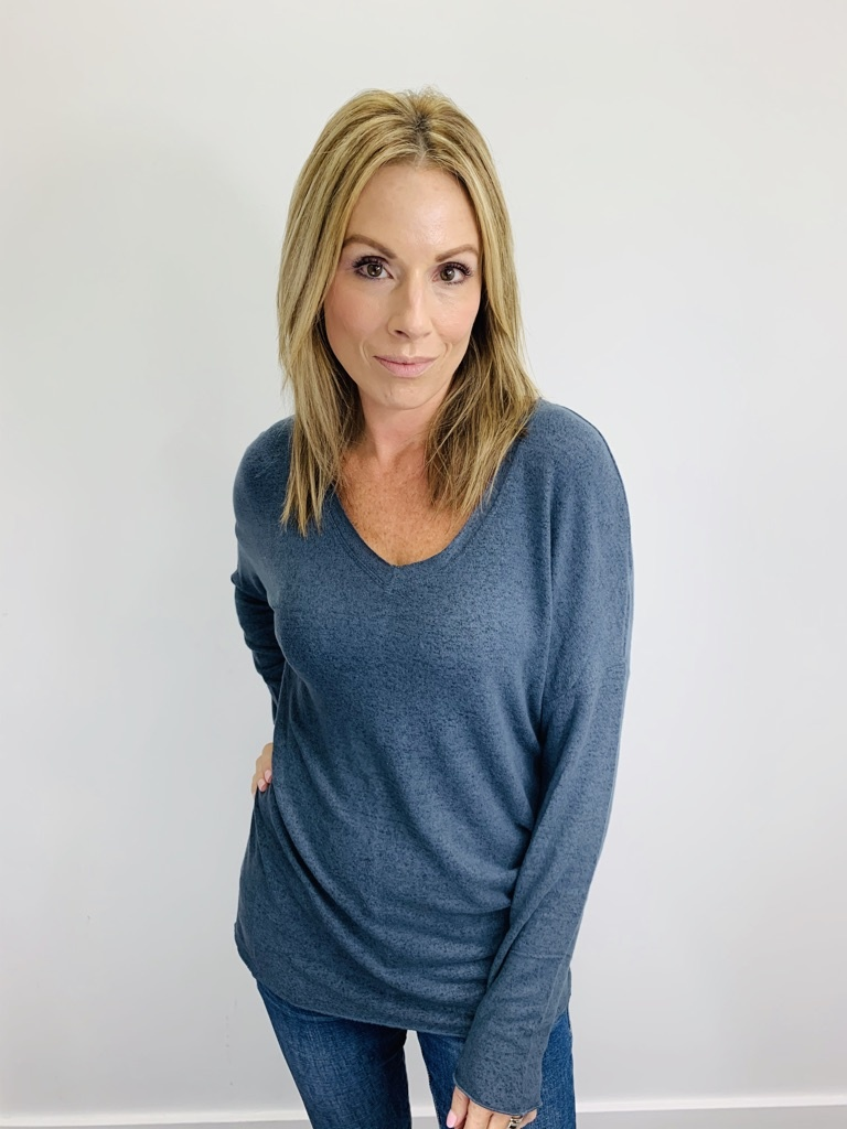 Z Supply Marled Sweater Tunic Storm Grey