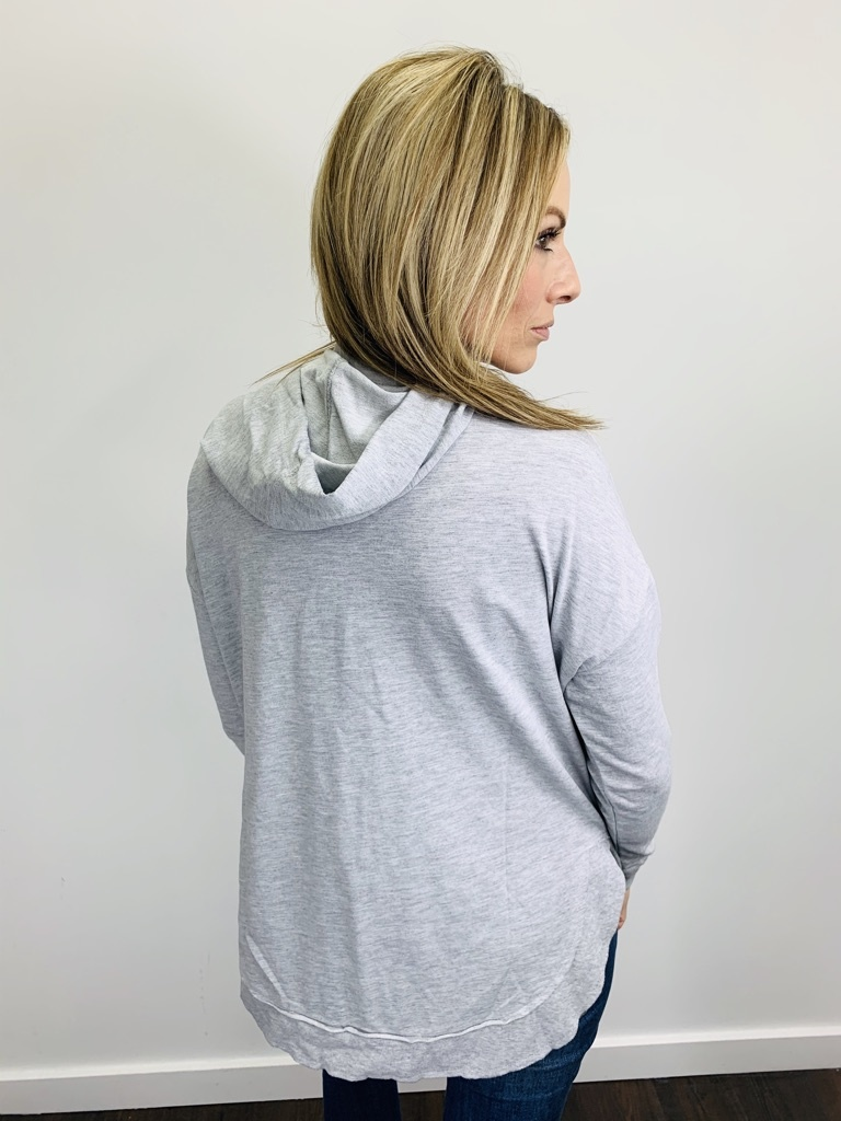 Z Supply Dakota Pullover Heather Grey