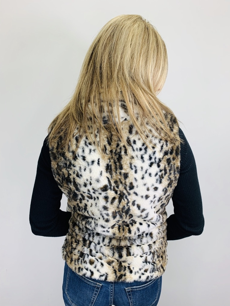 Jack by BB Dakota Leopard Faux Fur Vest