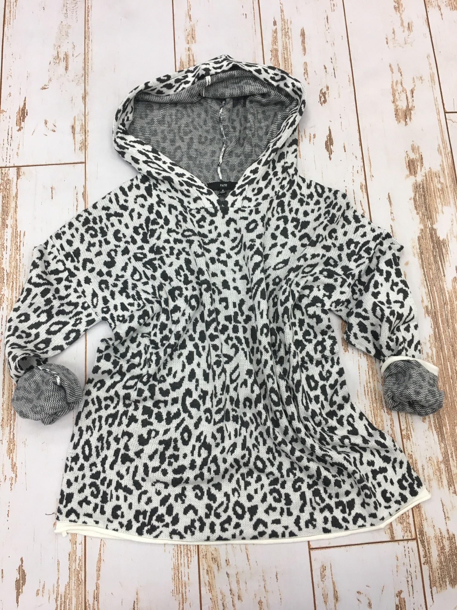Fate Leopard Print Hoodie Sweater