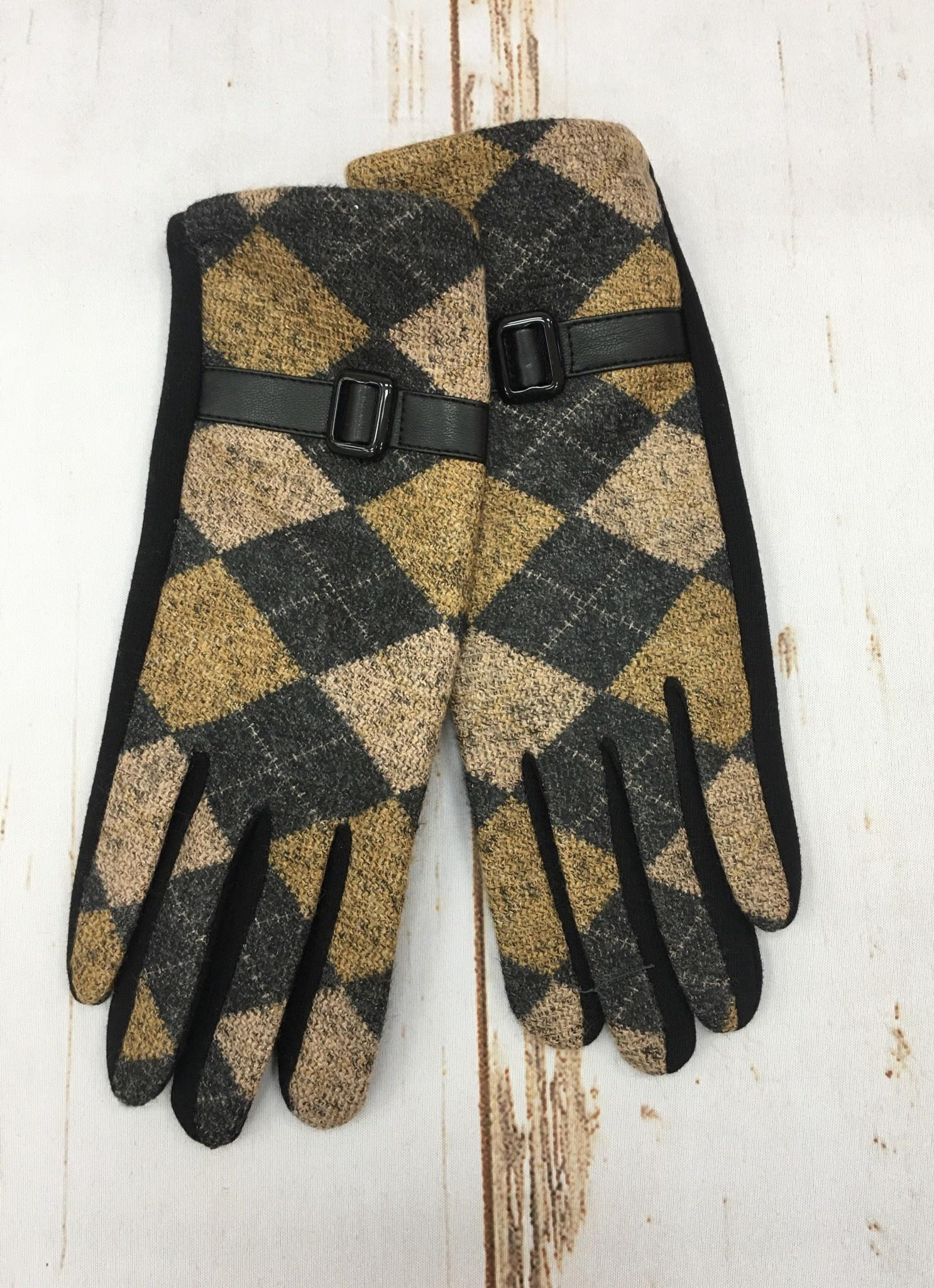 Accessorize Me Mustard Argyle Glove