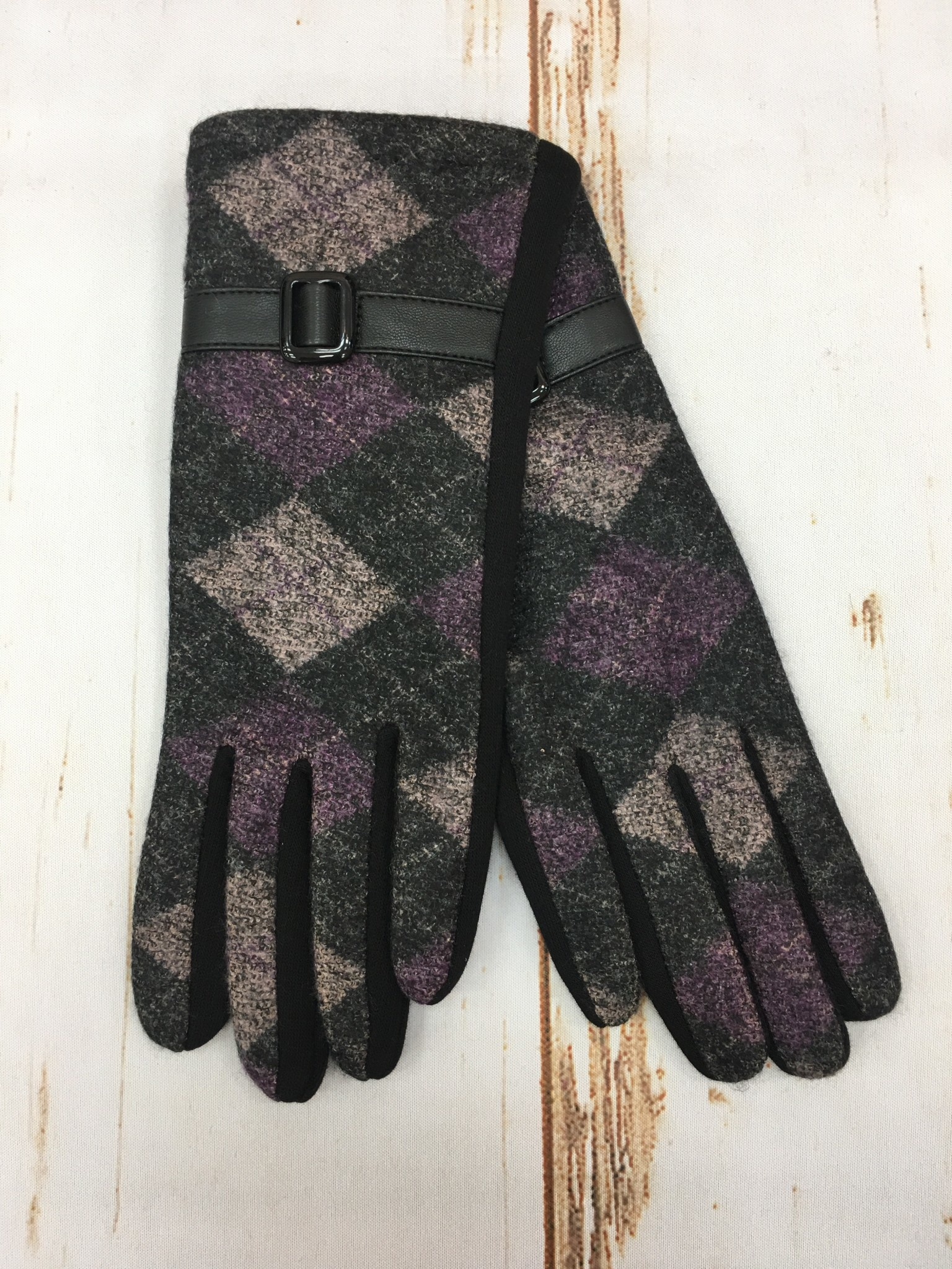 Accessorize Me Purple Argyle Glove