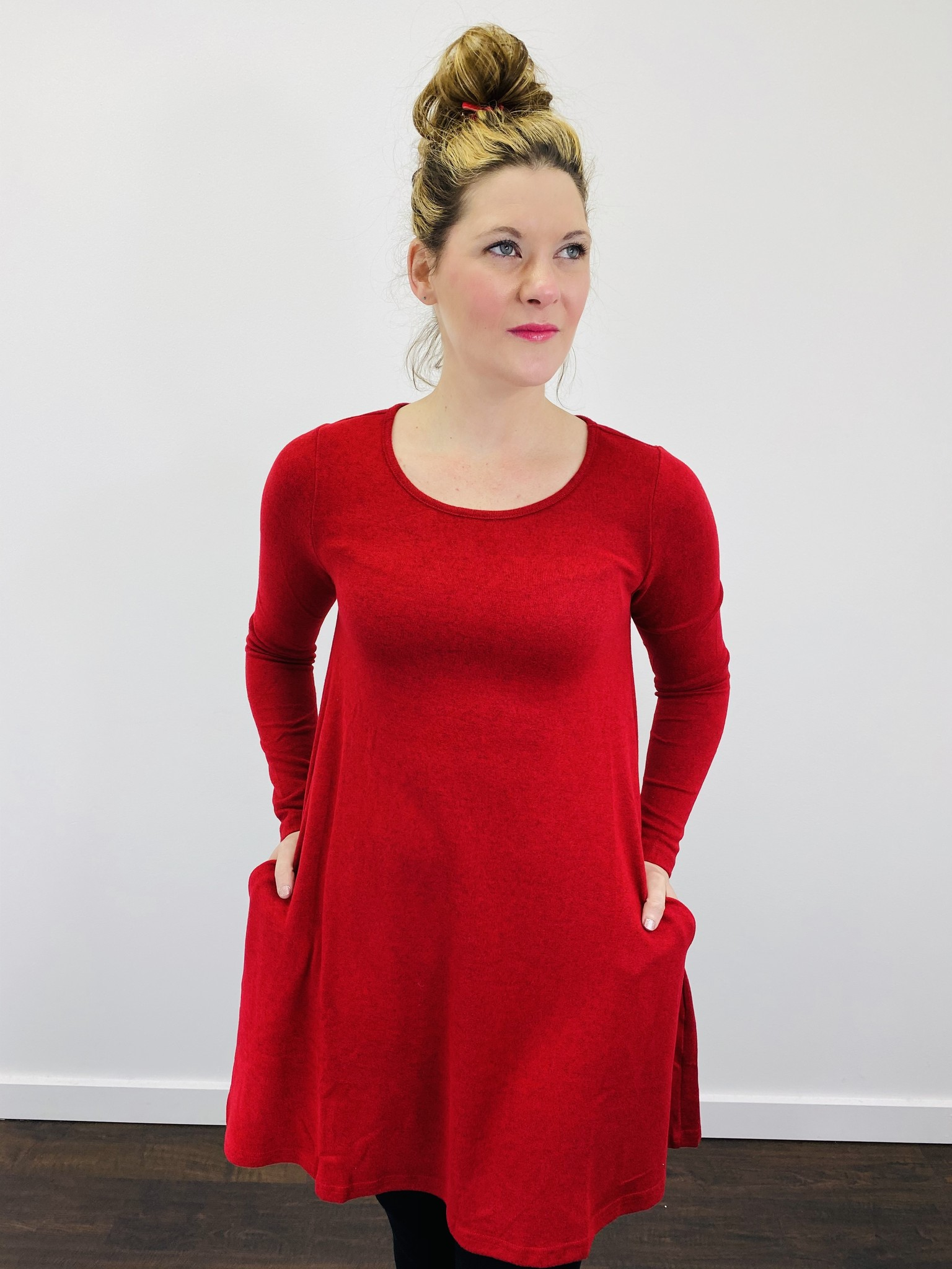 Aryeh Red Swing Dress
