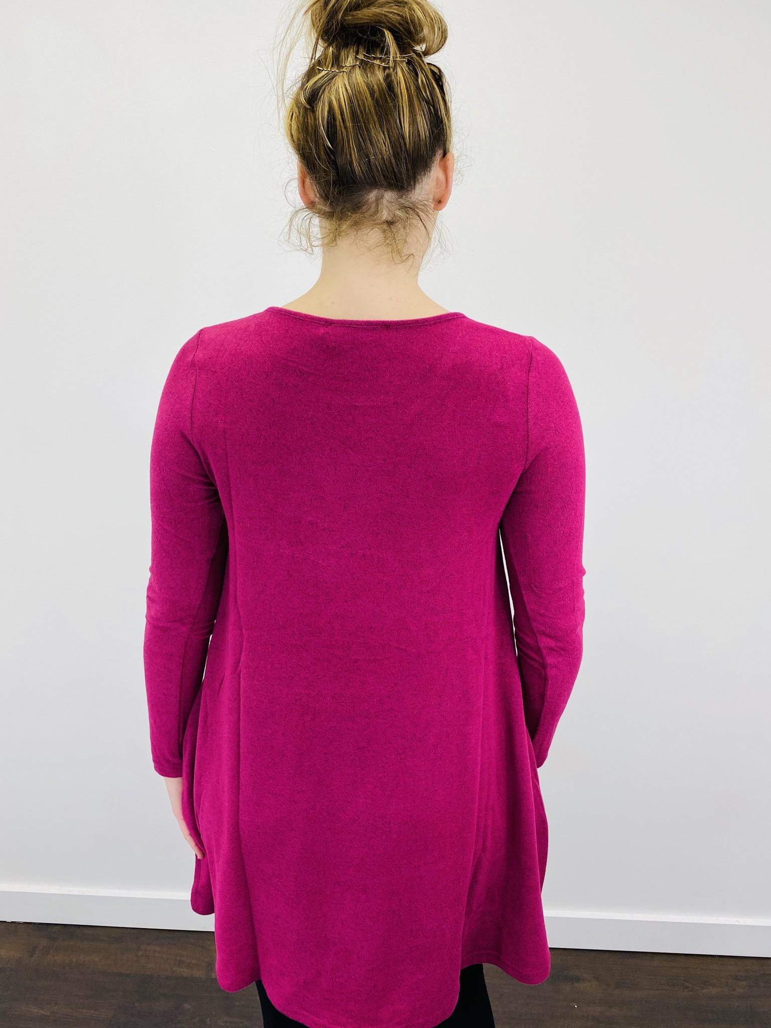 Aryeh Magenta Swing Dress