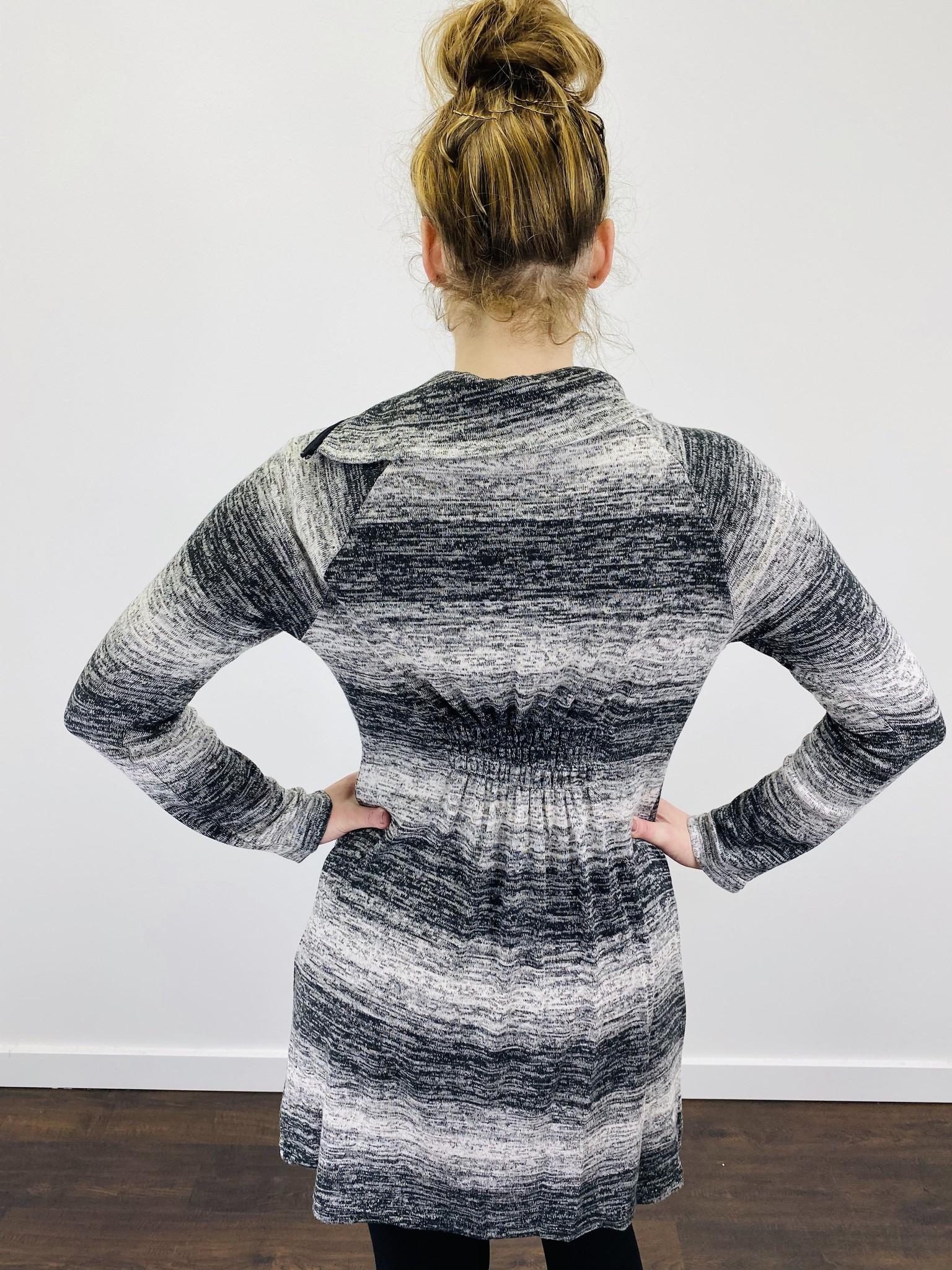 Neesha Ombre Striped Split Cowl Dress