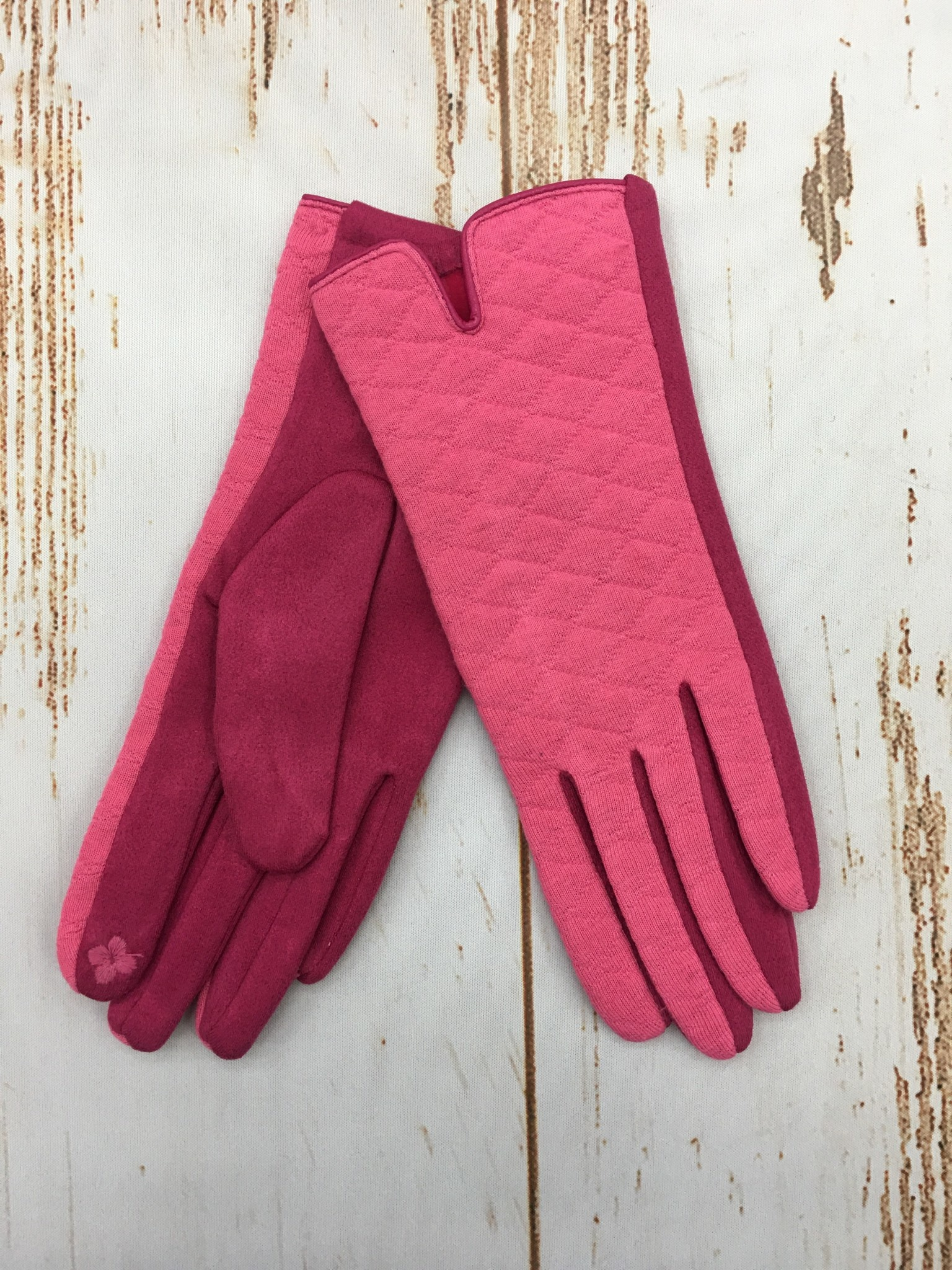 Top It Off Pink Gloves