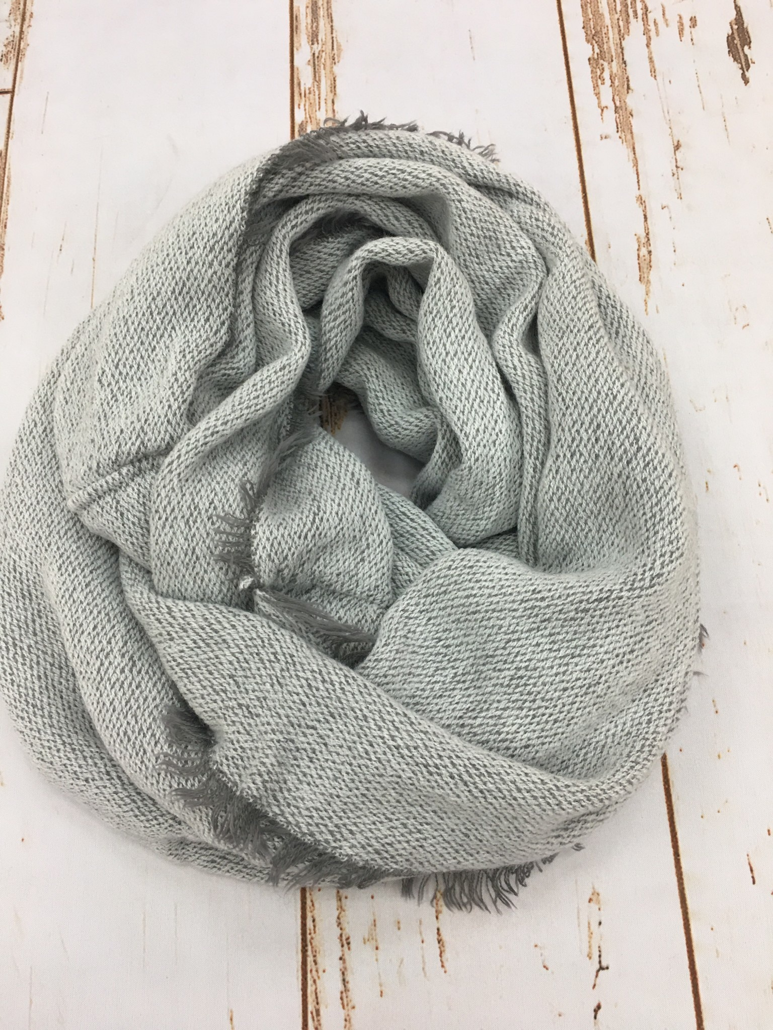Panache Sunggly Grey Infinity Scarf