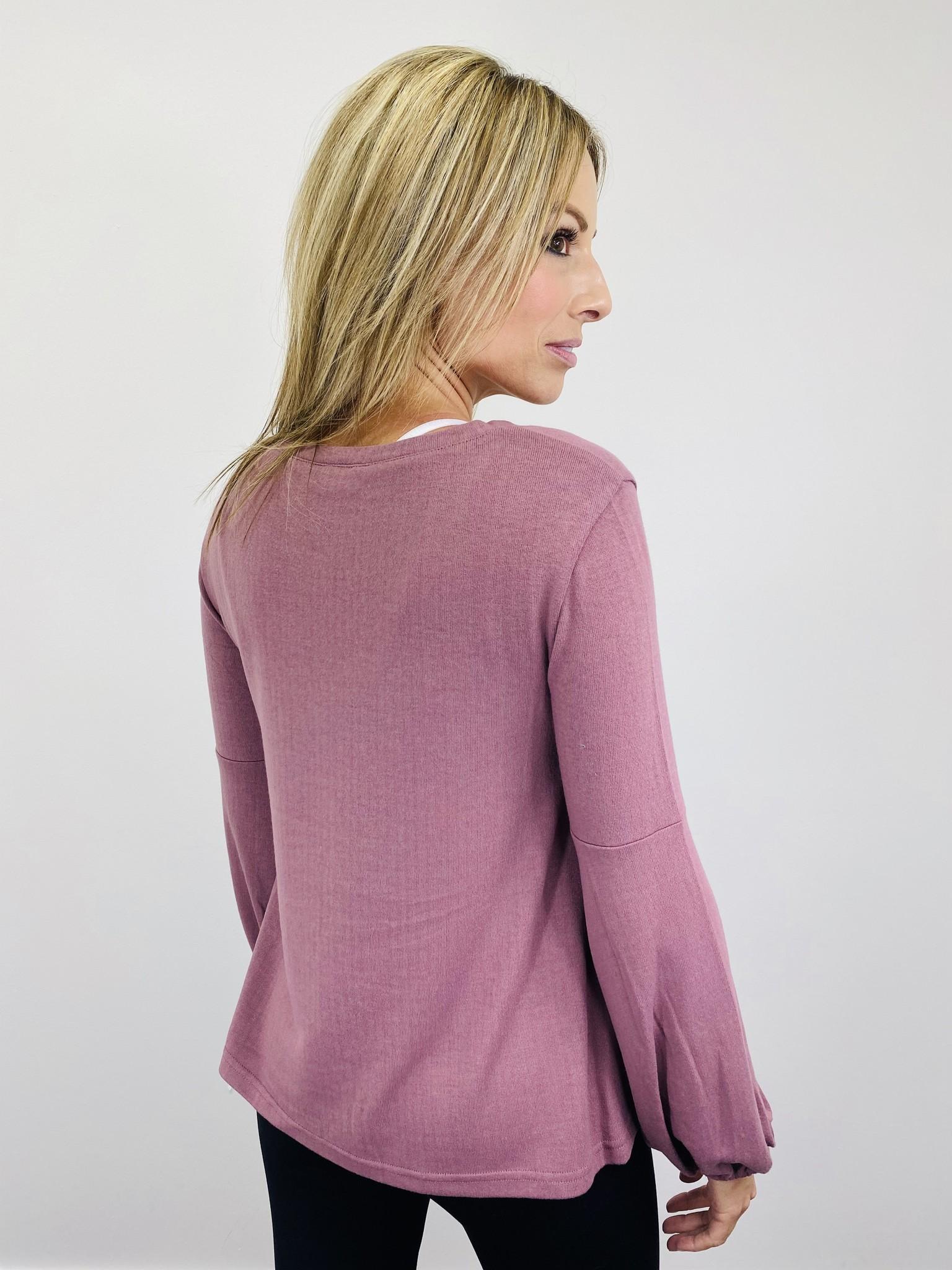 Jack by BB Dakota Rose Mauve Sweater
