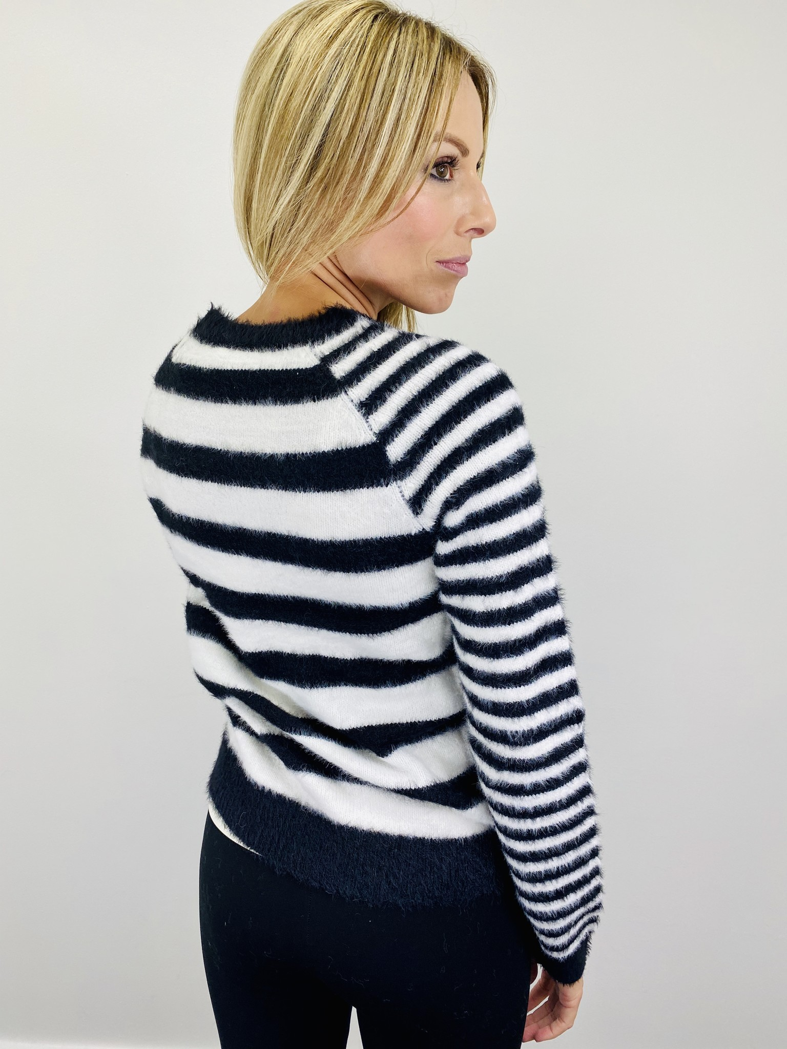 Hem & Thread Mixed Stripe Sweater