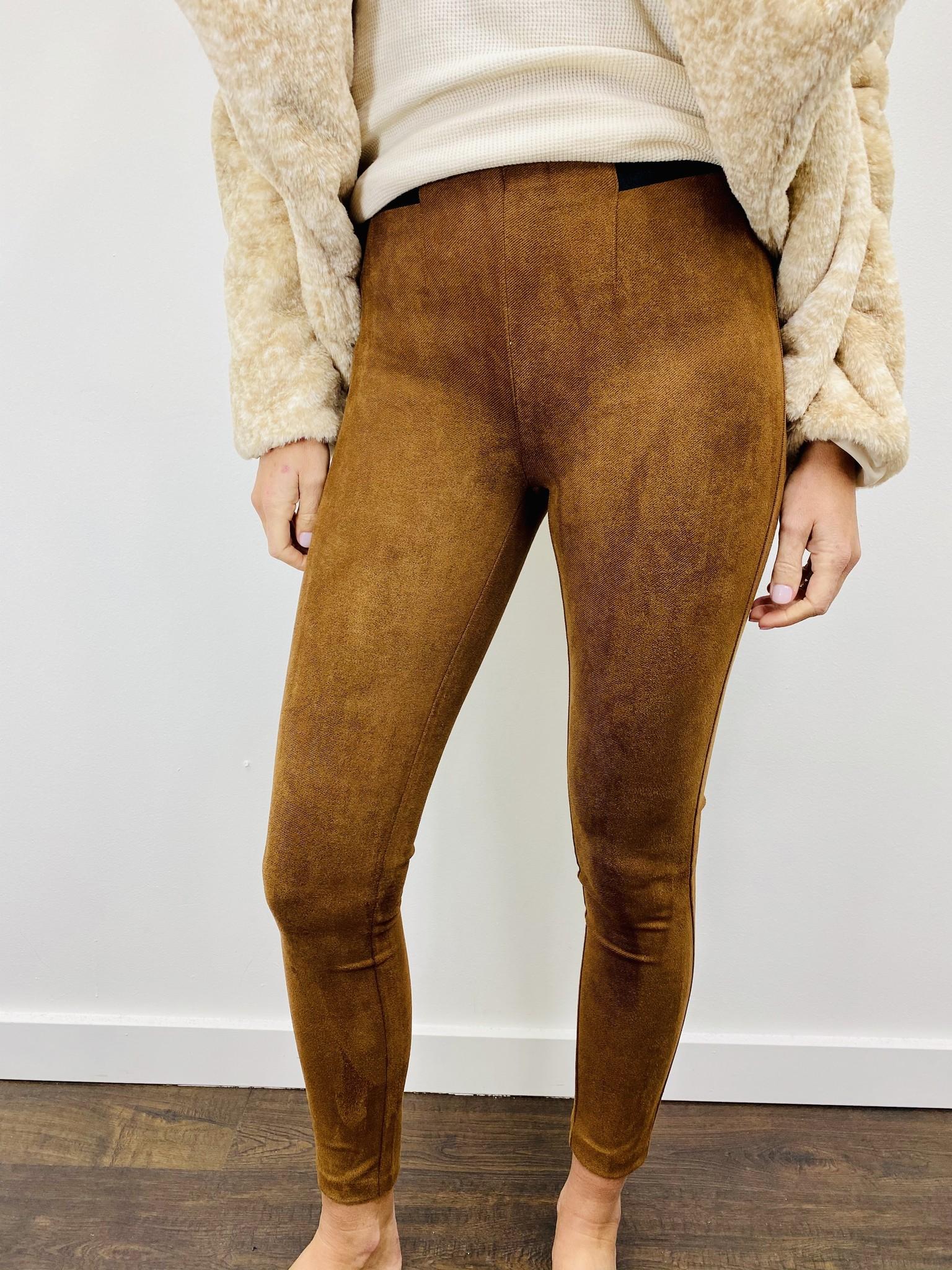 Dex Pull in Legging in Dark Camel