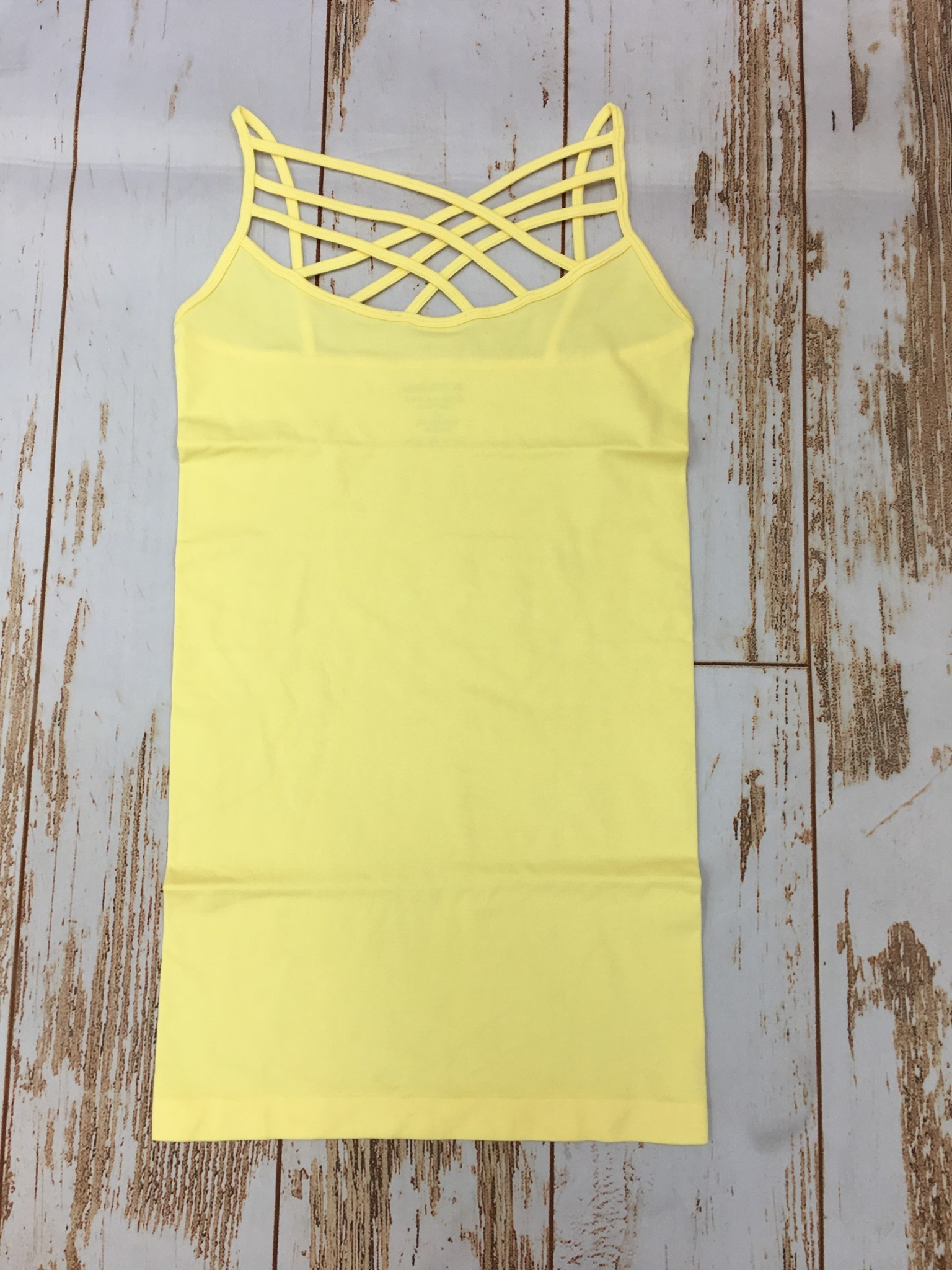 Zenana Triple Cross Cami Sunshine