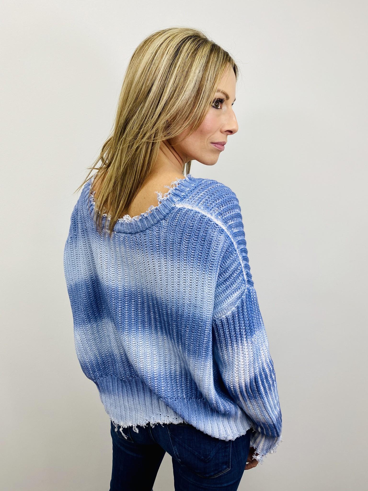 White Crow Catarina Sweater in Blue Heron