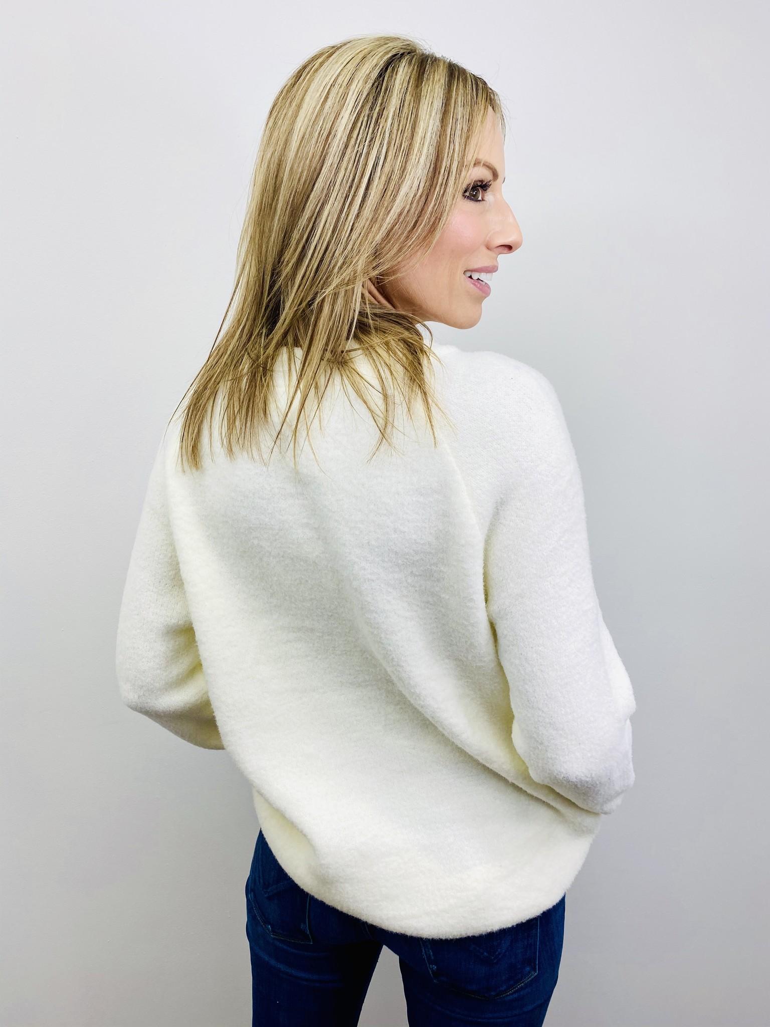 Bibi Super Soft Sweater Tunic in Off White