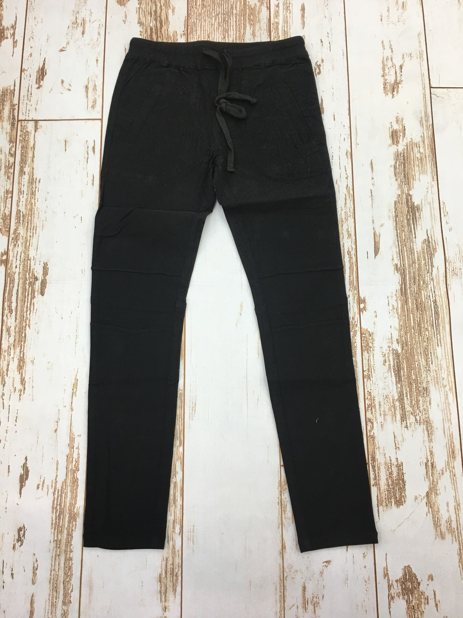 KLD Stretch Pant with Drawstring in Black