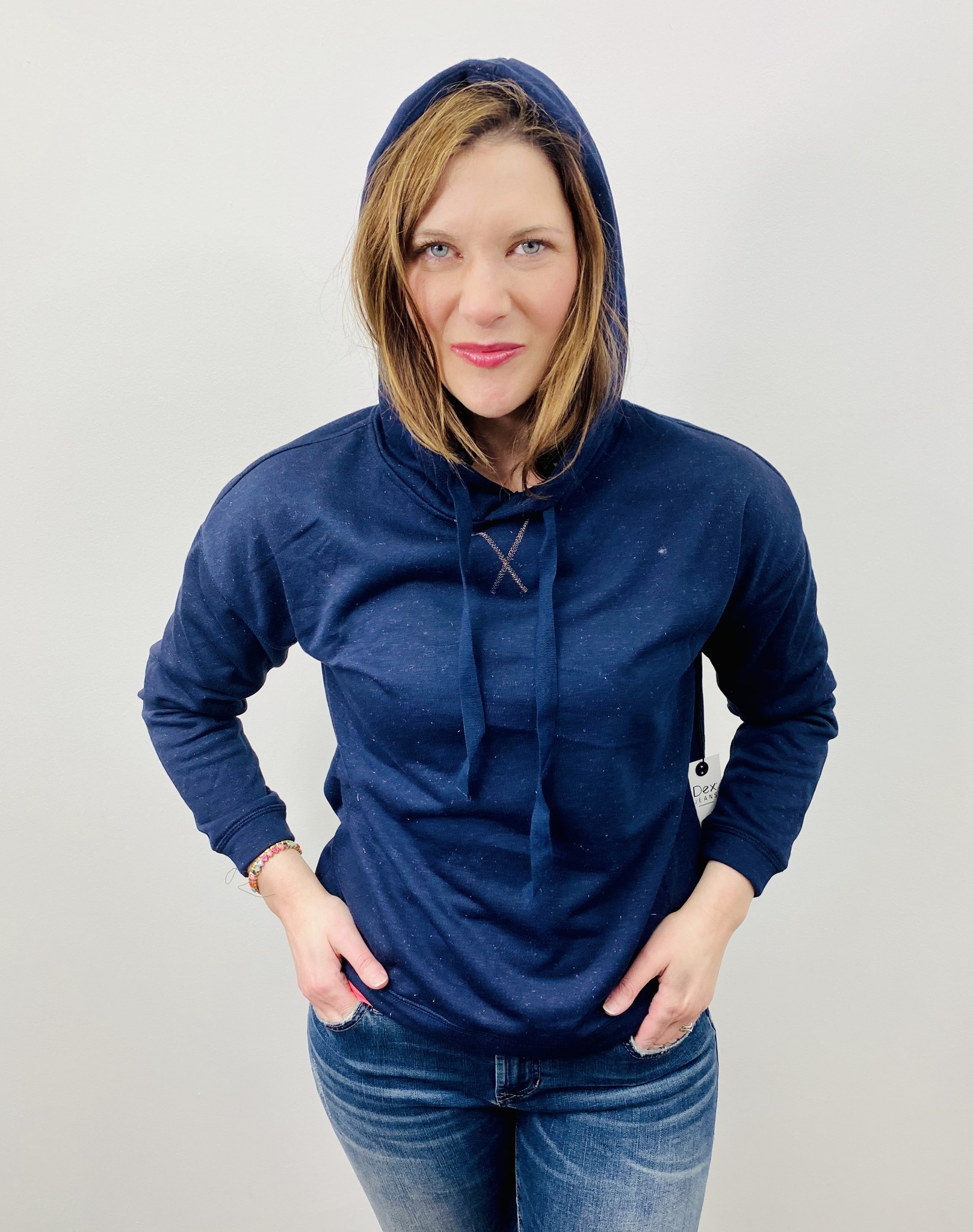 Dex Hooded Lurex Sweatshirt