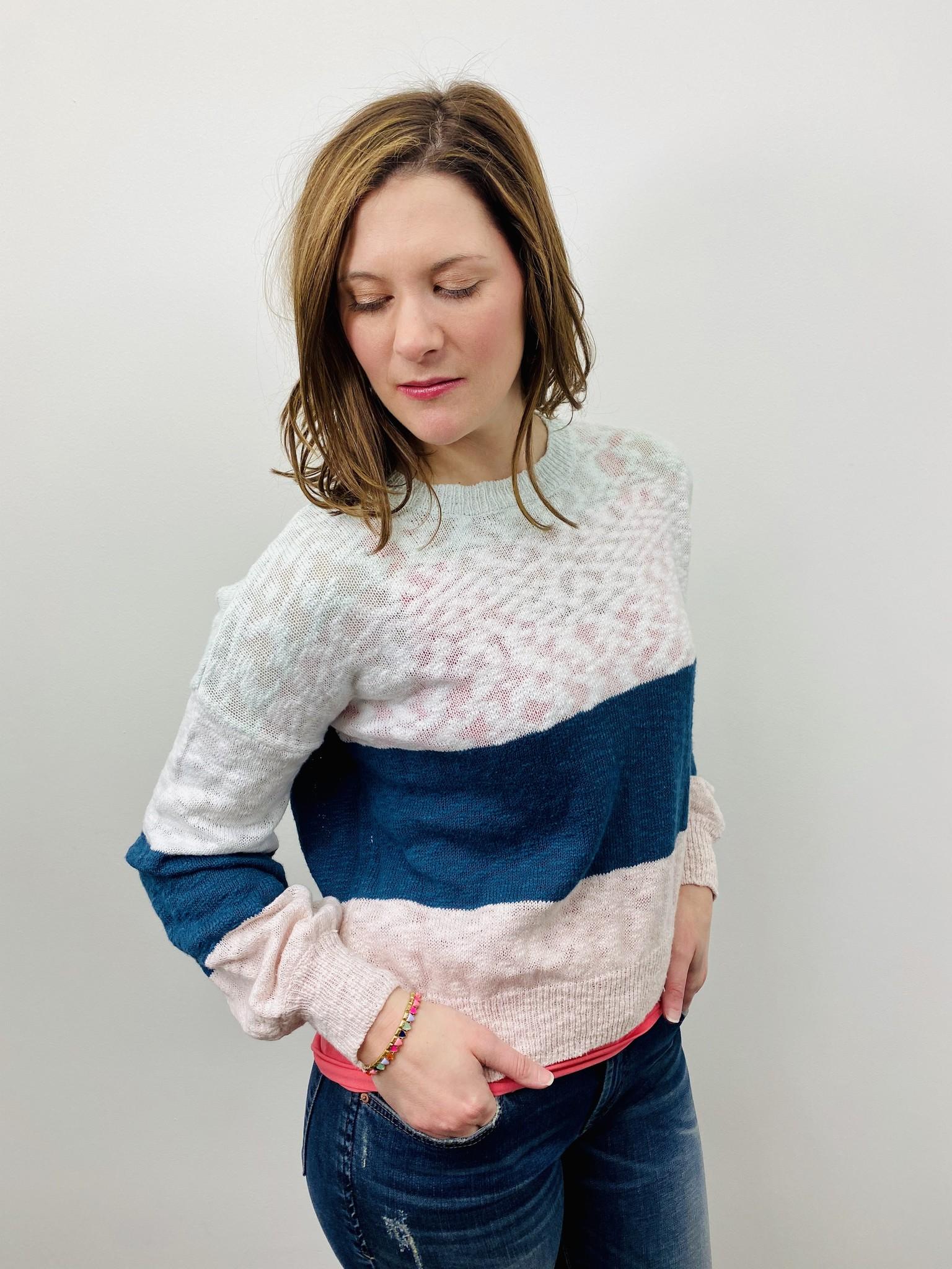 Rag Poets Multi Stripe Sweater
