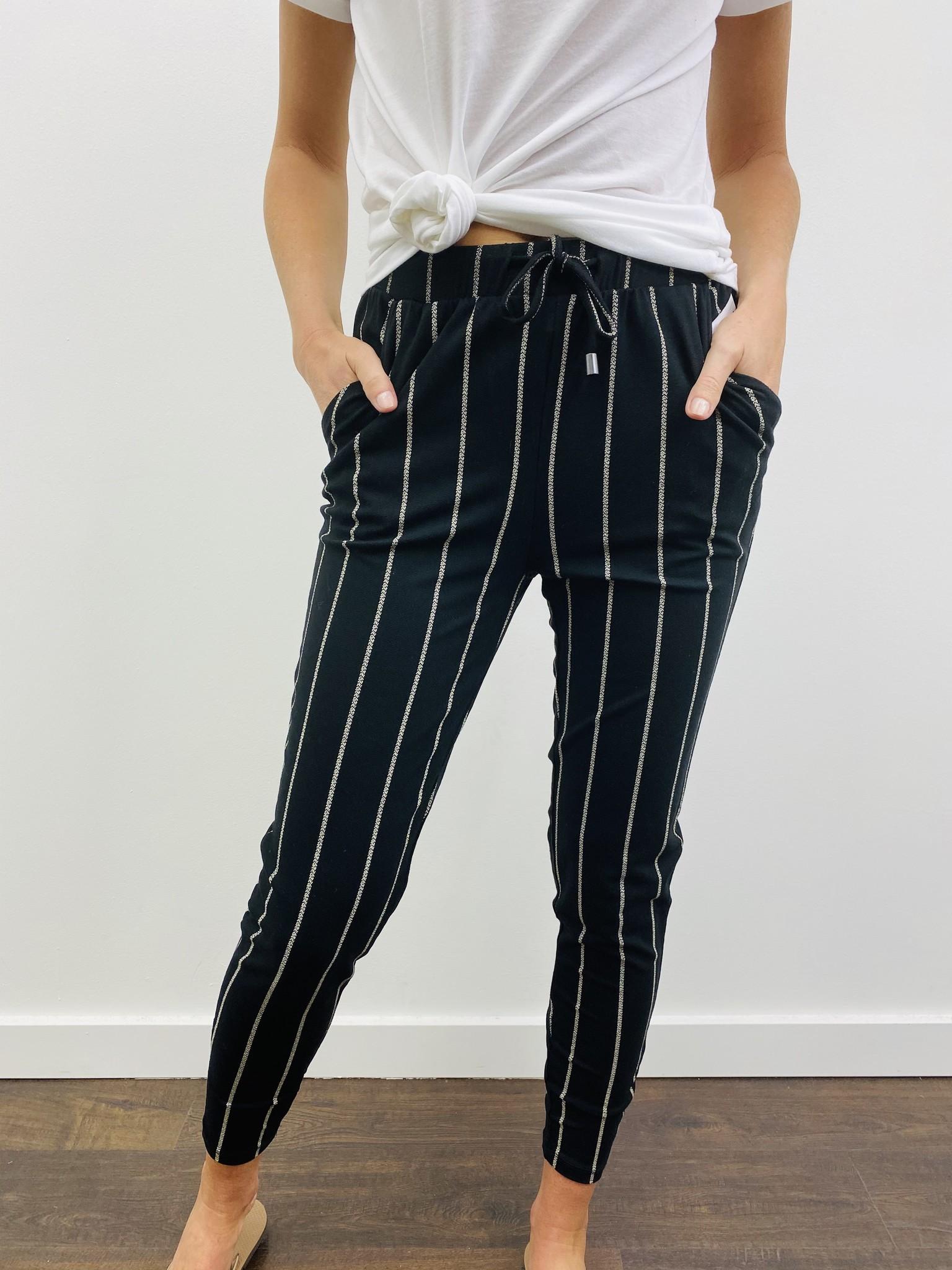 Dex Drawstring Pant in Pixel Stripe