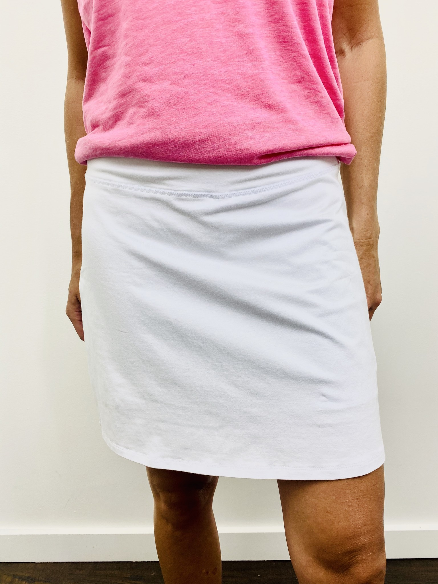 Karissa & Me Cotton Stretch Skort in White