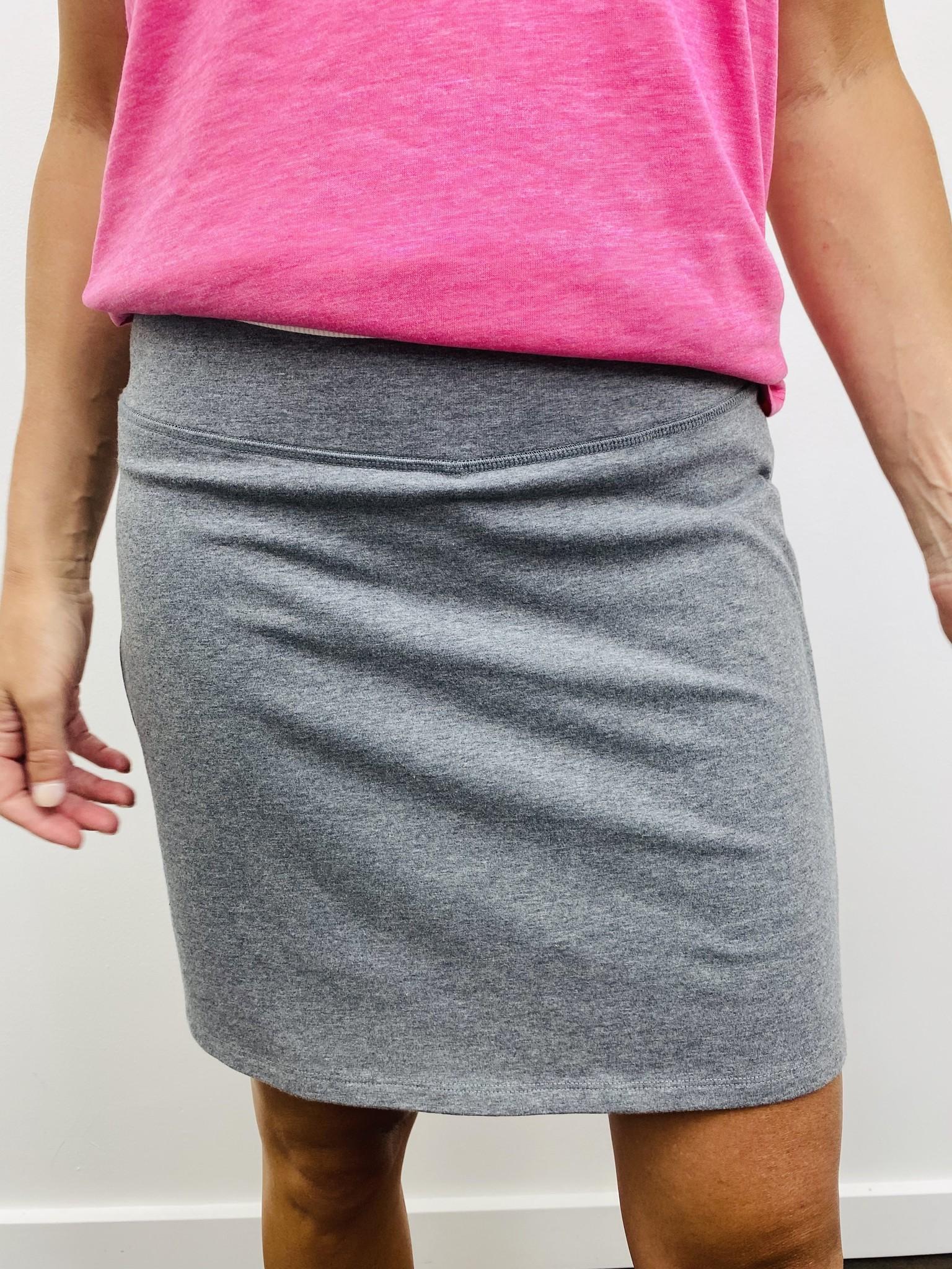 Karissa & Me Cotton Stretch Skort in Grey