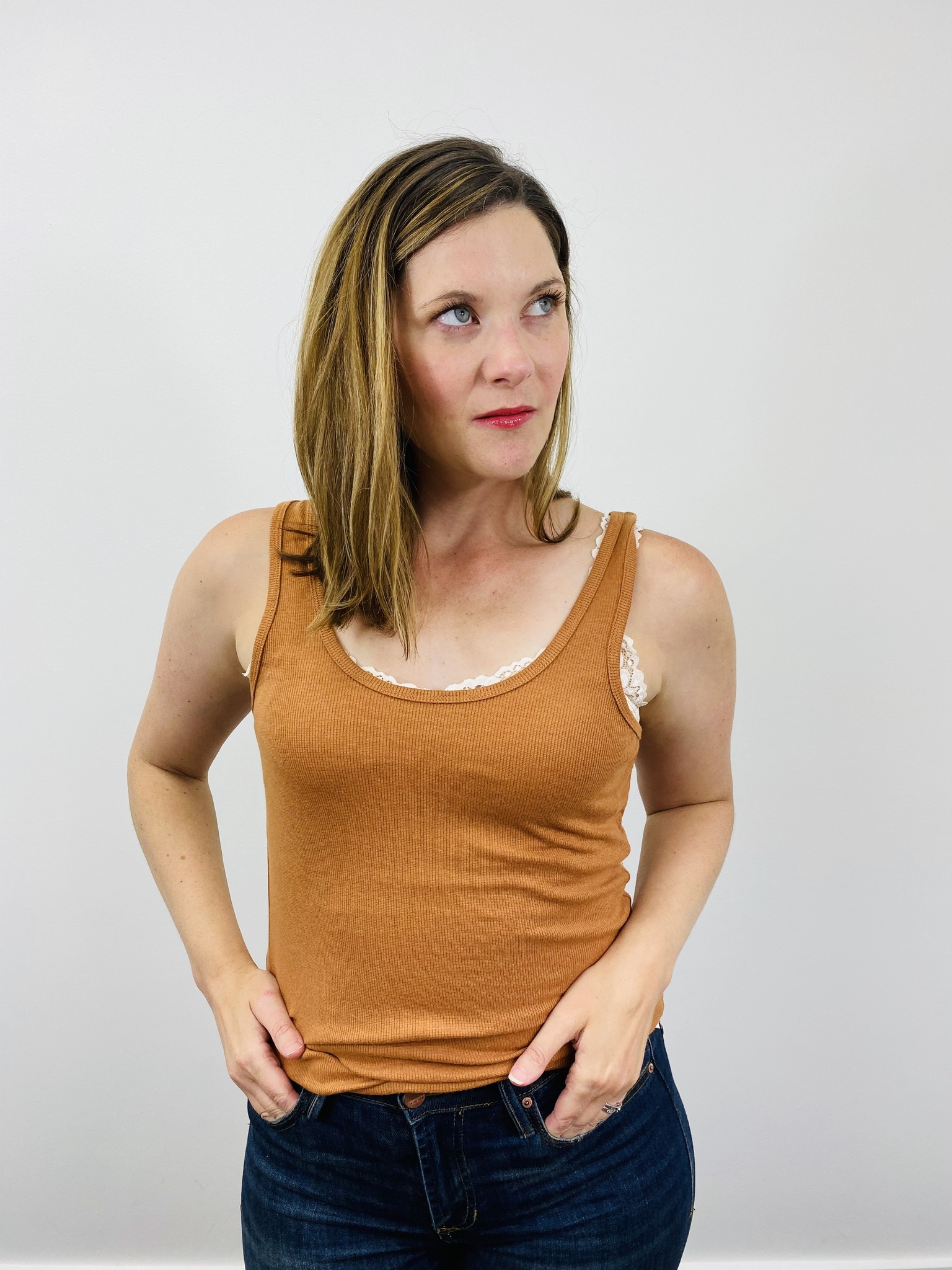 Alternative Zoe Rib Tank Bronze