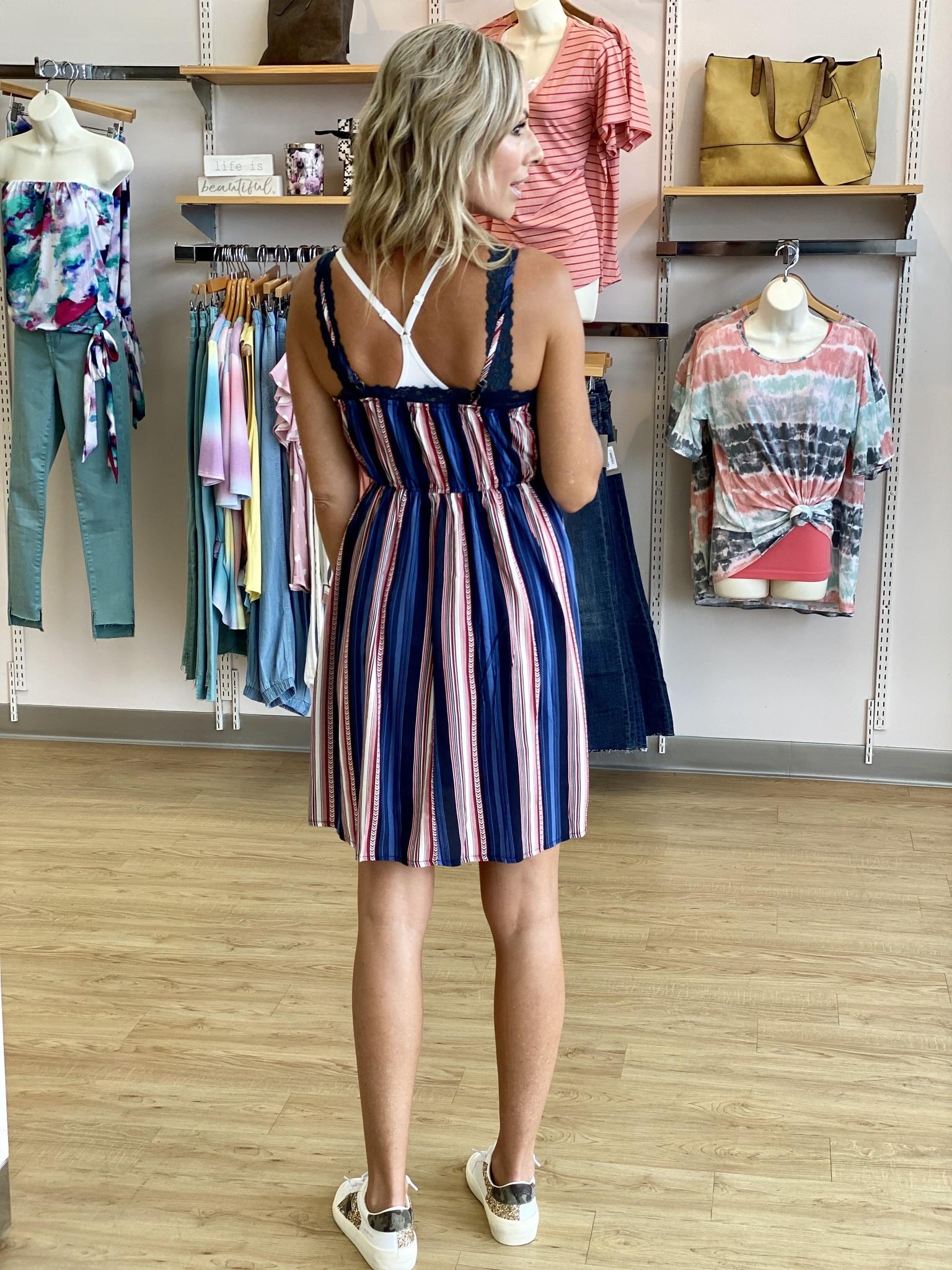 Papillon Vertical Stripe Dress