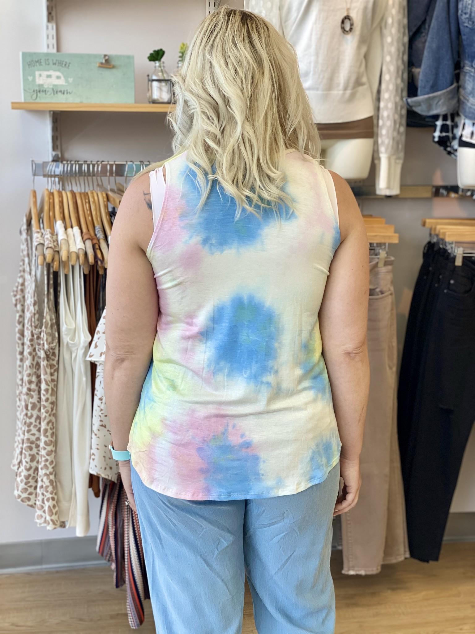 Survival Multi Color Tie Dye Tank