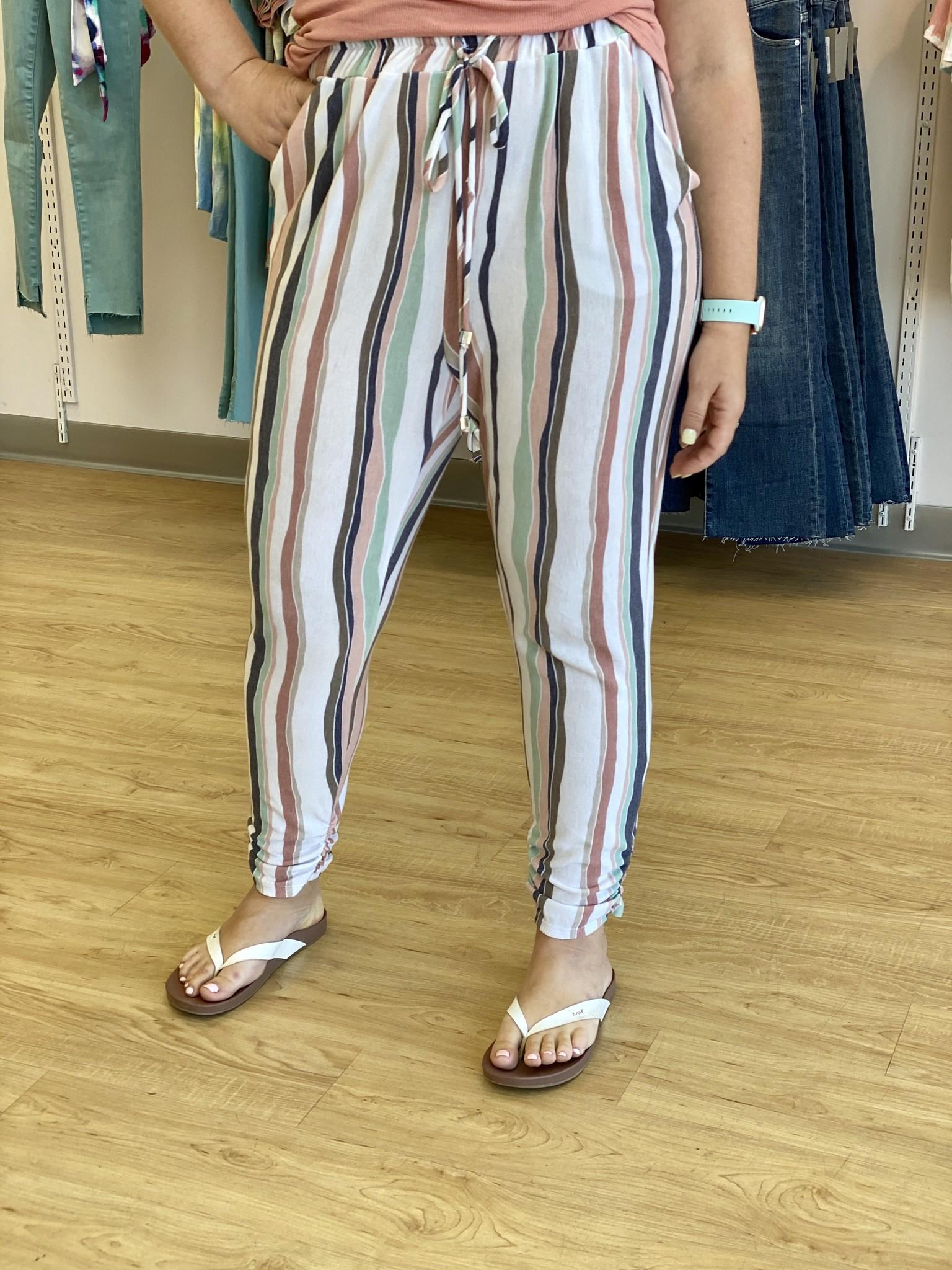 Ariella Stripe Jogger Pant