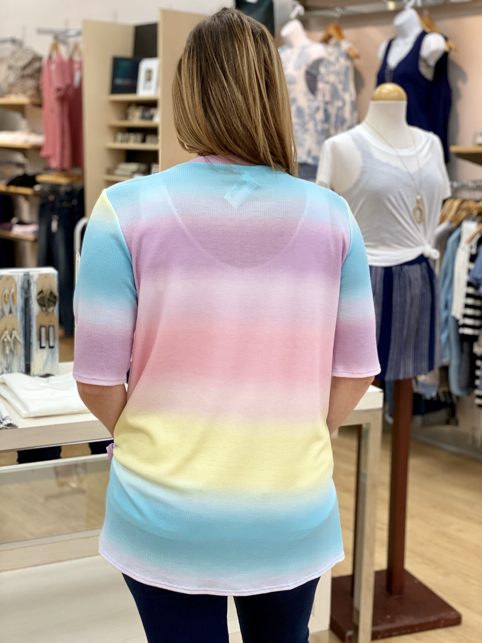 BomBom Lightweight Rainbow Top