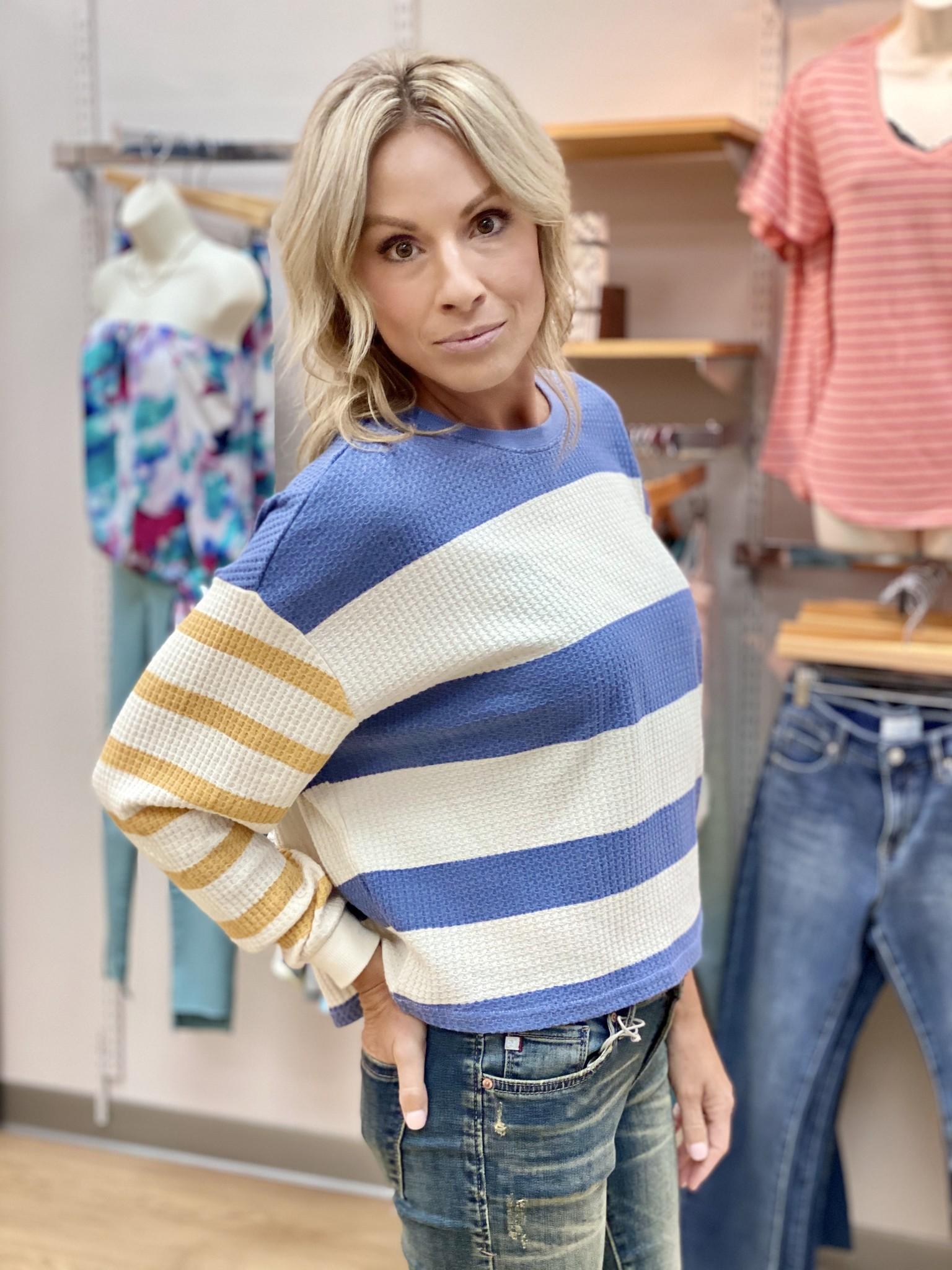 Z Supply Grace Stripe Long Sleeve Top