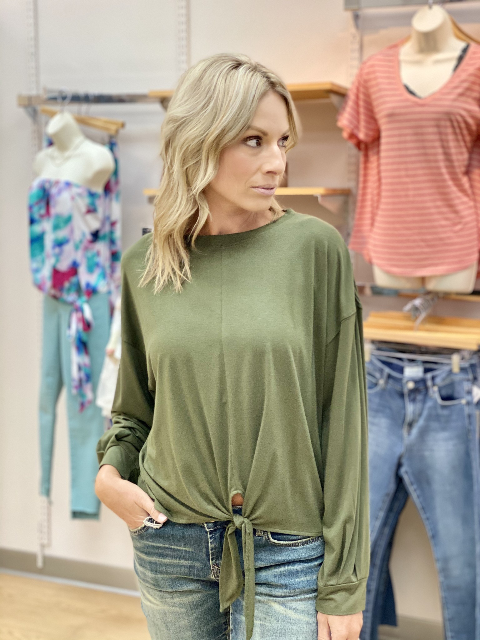 Survival Jackie O Cruise Tee in Army