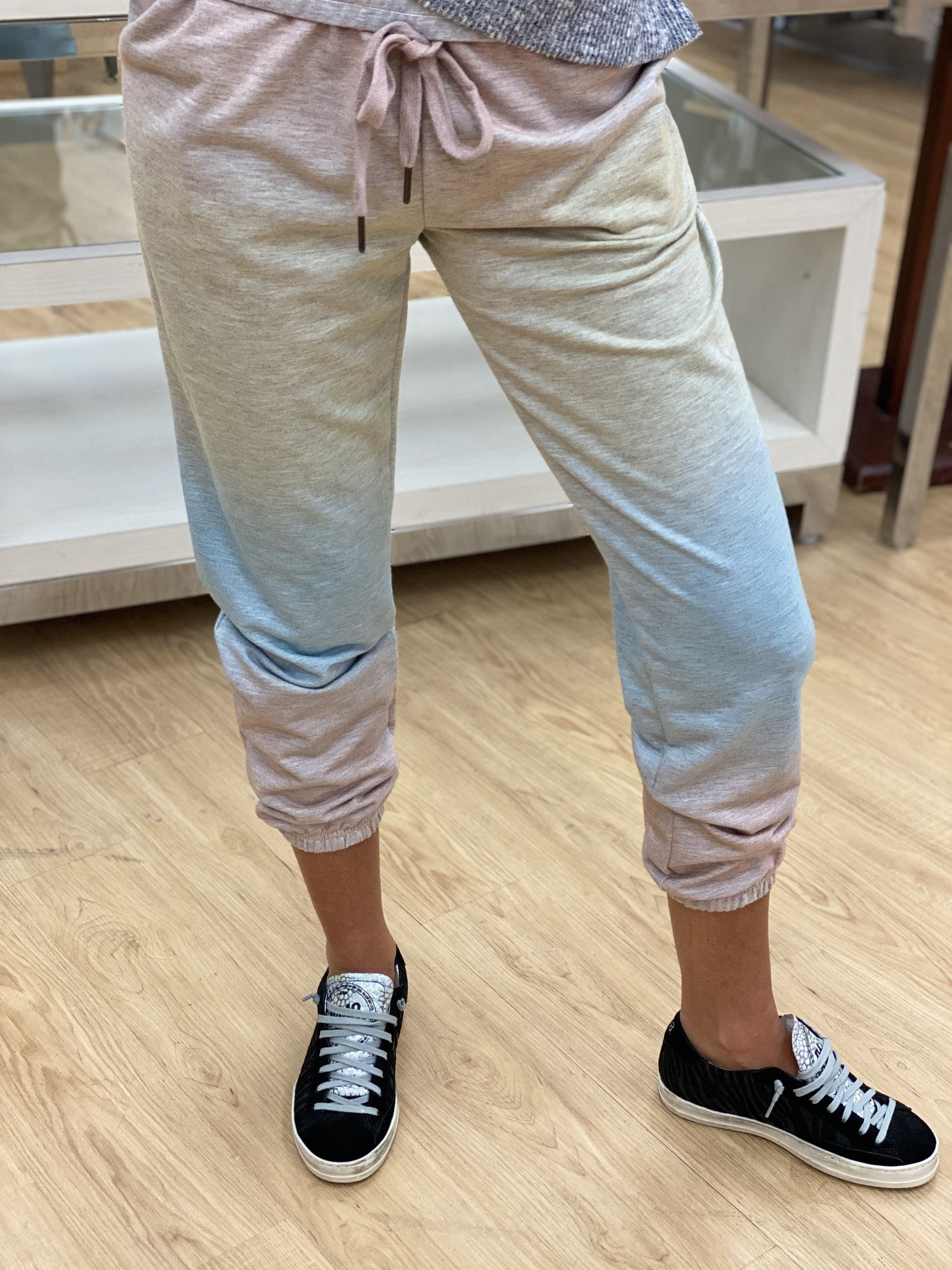 Z Supply Ombre Tie Dye Jogger Coral Pink