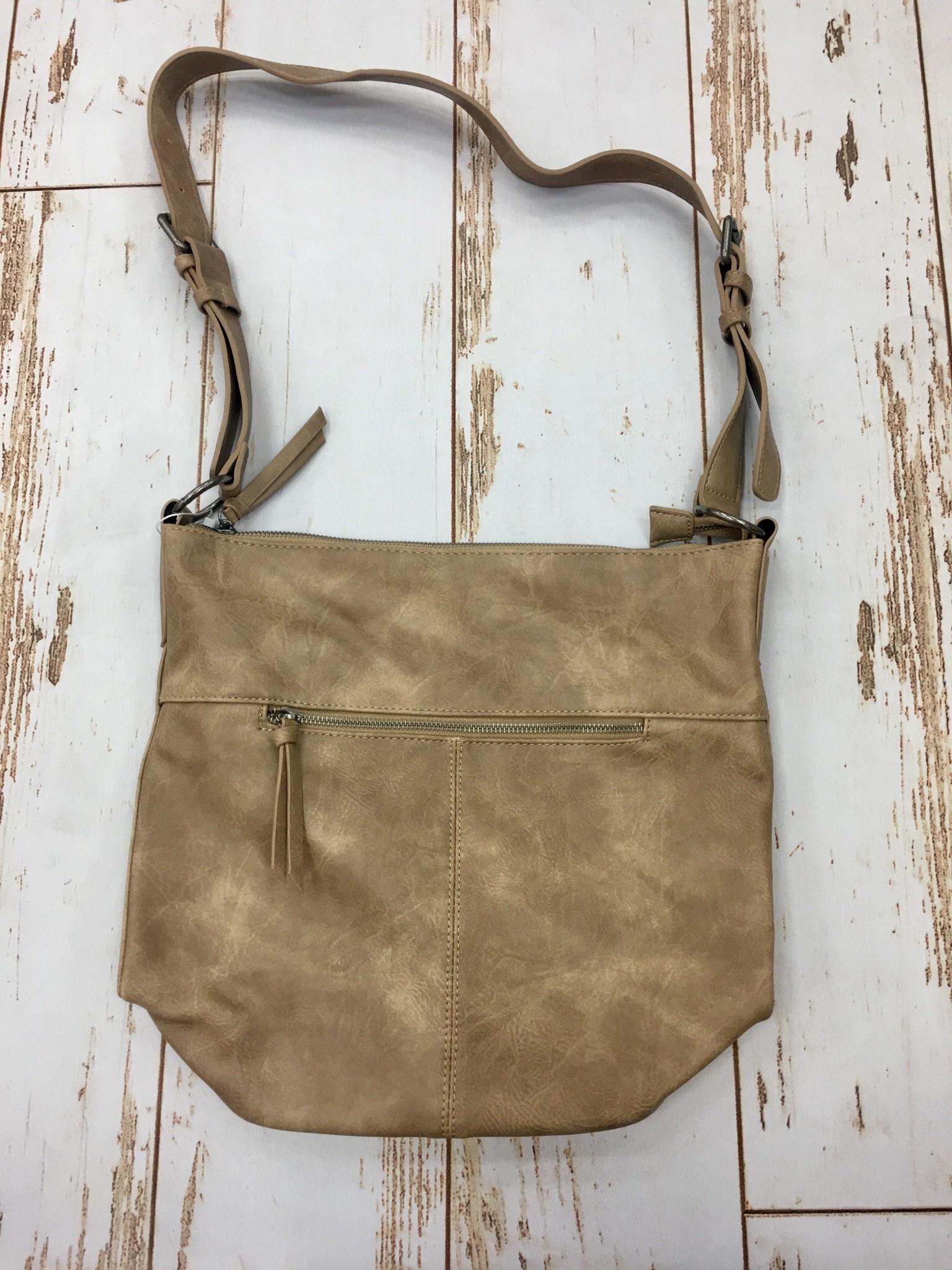 Joy Accessories Vintage Camel Nori Crossbosy Bucket Bag
