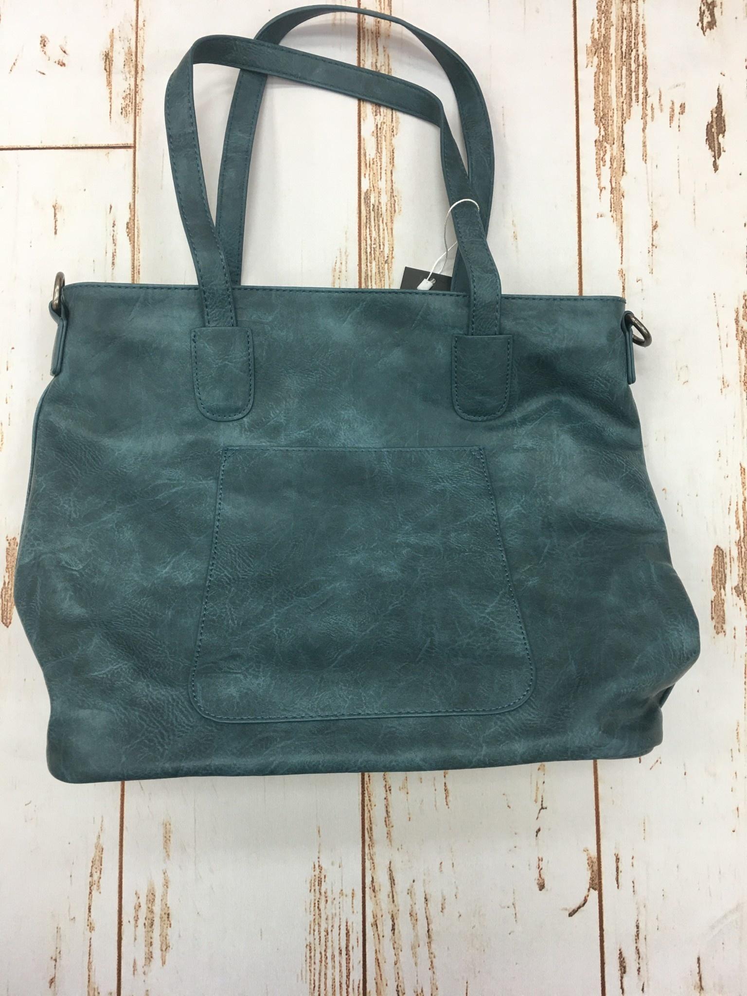 Joy Accessories Deja Blu Terri Traveler Zip Tote Handbag