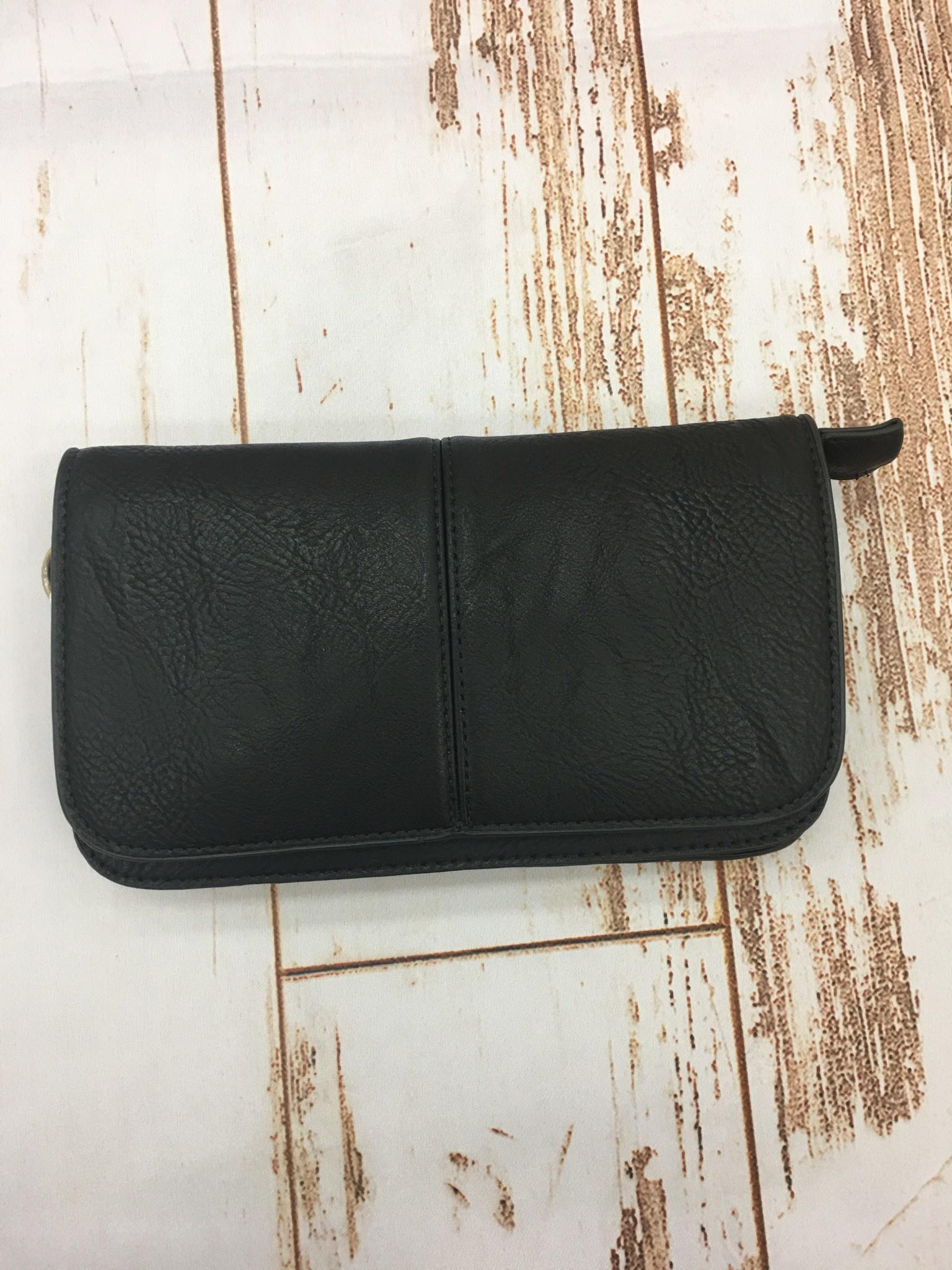 Joy Accessories Black Mia Multi Pocket Crossbody Clutch
