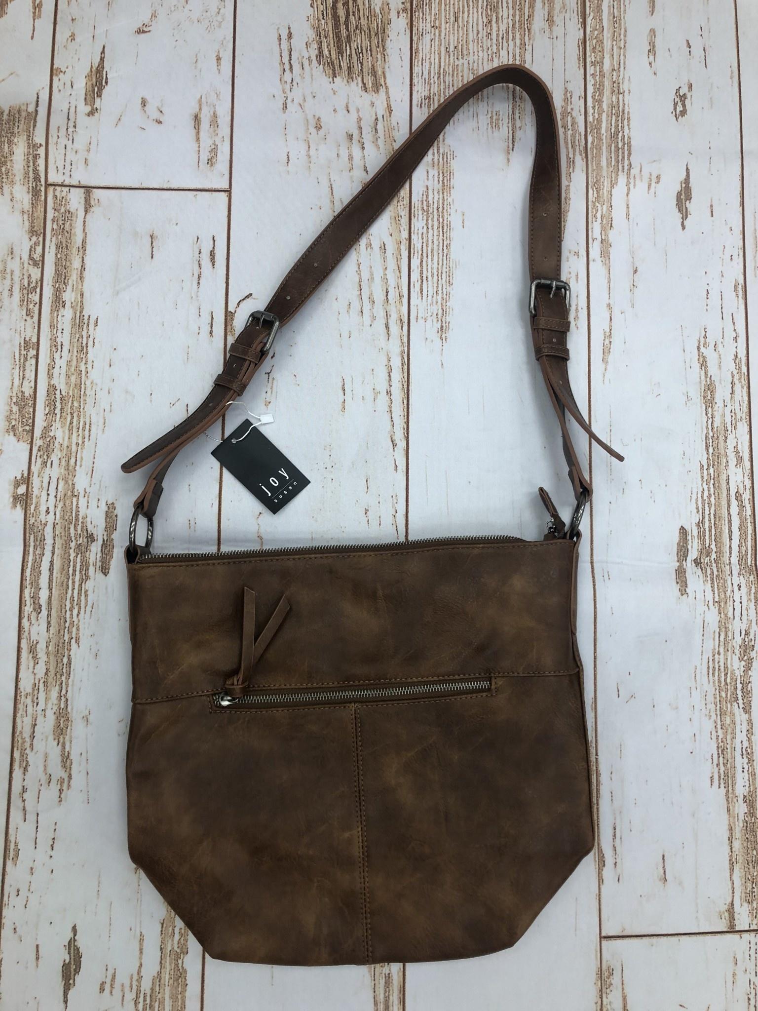 Joy Accessories Pecan Nori Crossbody Bucket Bag