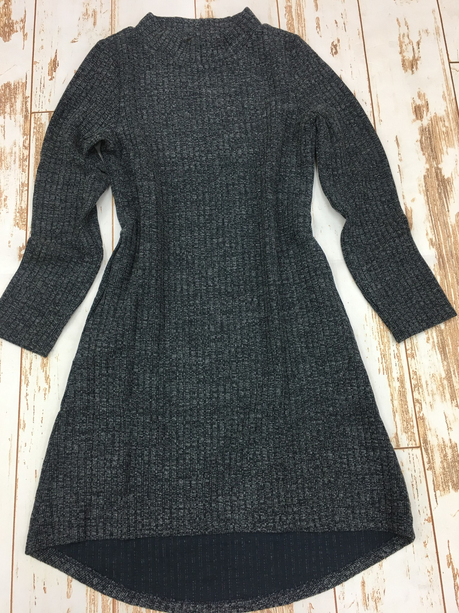 Papillon Navy Mock Neck Sweater Dress W/Pockets