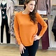 Survival Jessica Baseball Crew Sweater in Orange