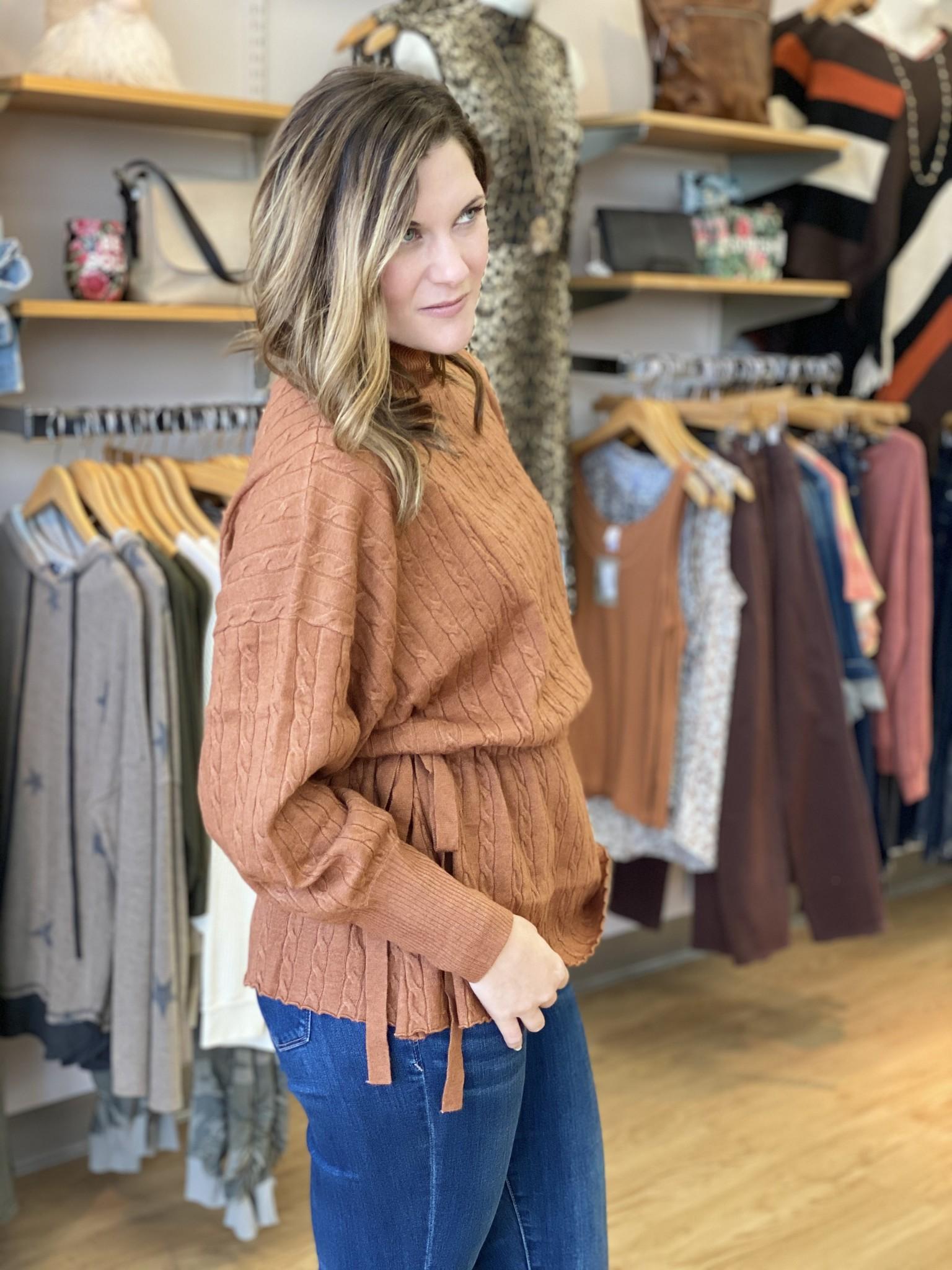 Kerisma Dara Camel Sweater W/Side Tie