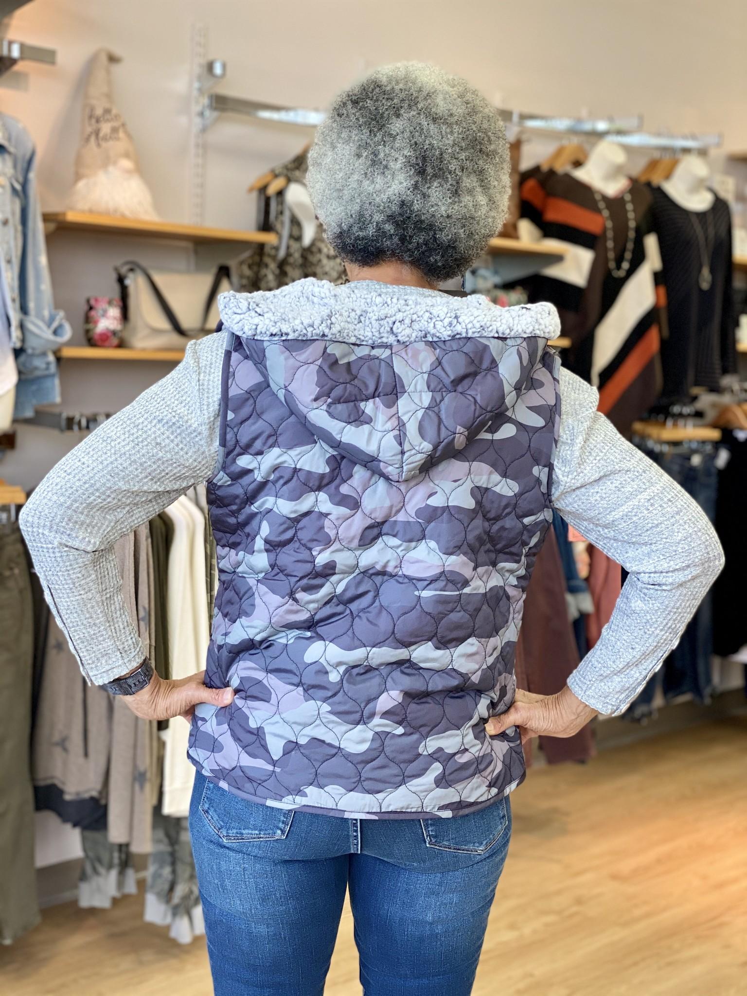 Karissa & Me Reversible Camo Hooded Vest