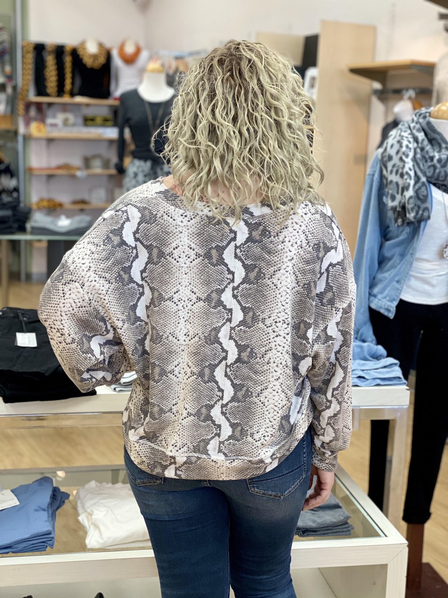 Ariella V Neck Snake Top