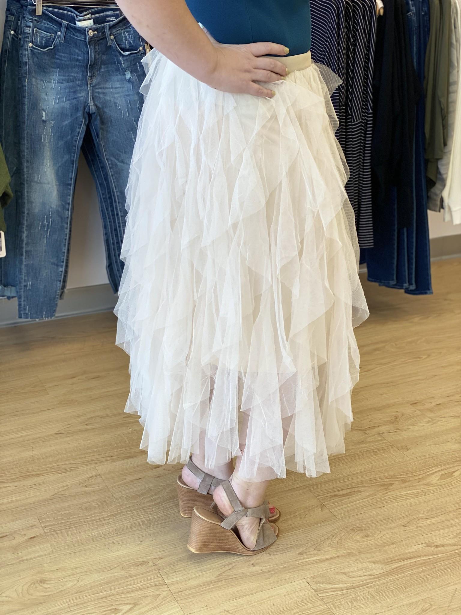 Apricot Layered Tutu Fairy Skirt